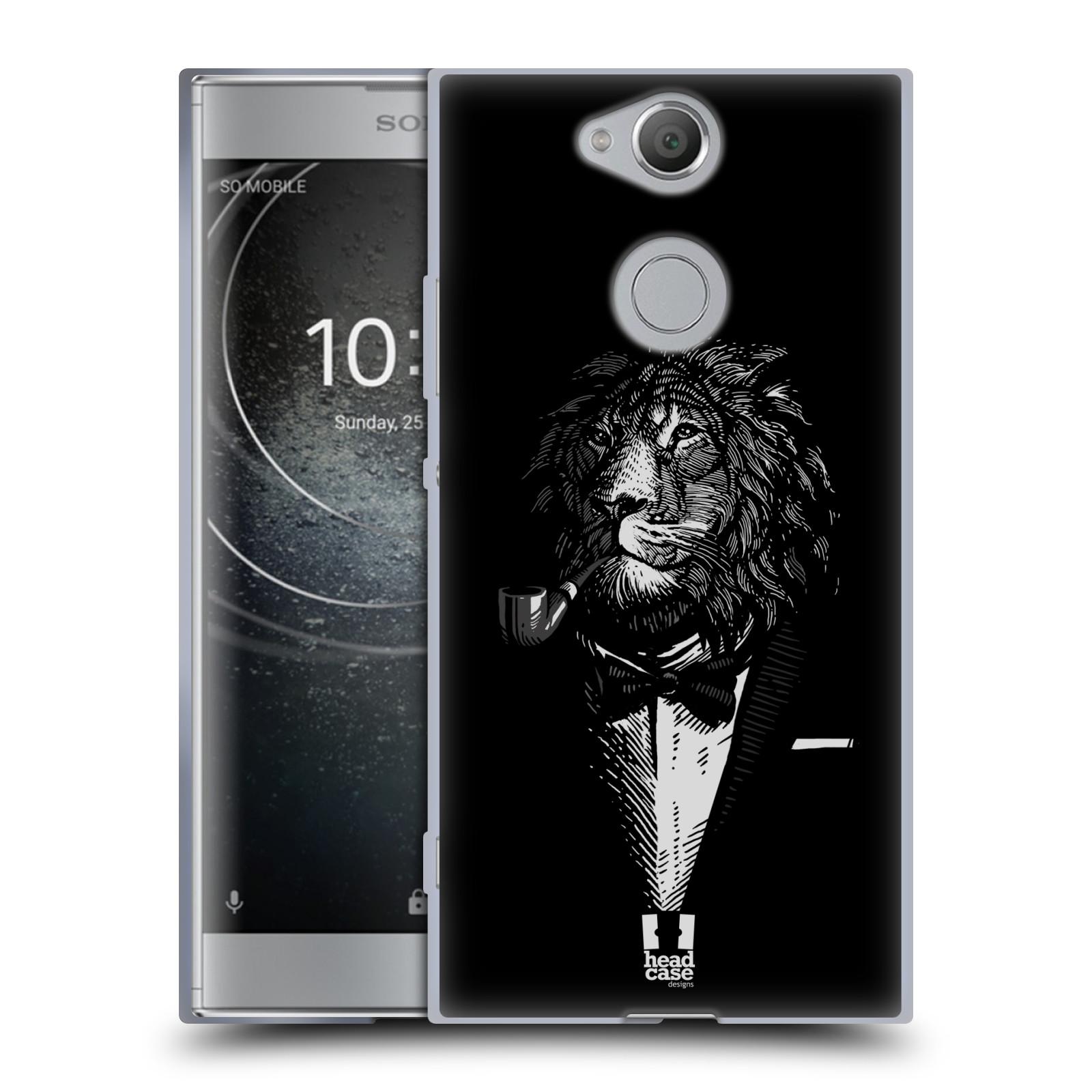 Pouzdro na mobil Sony Xperia XA2 (DUAL SIM, SINGLE SIM) vzor Zvíře v obleku lev