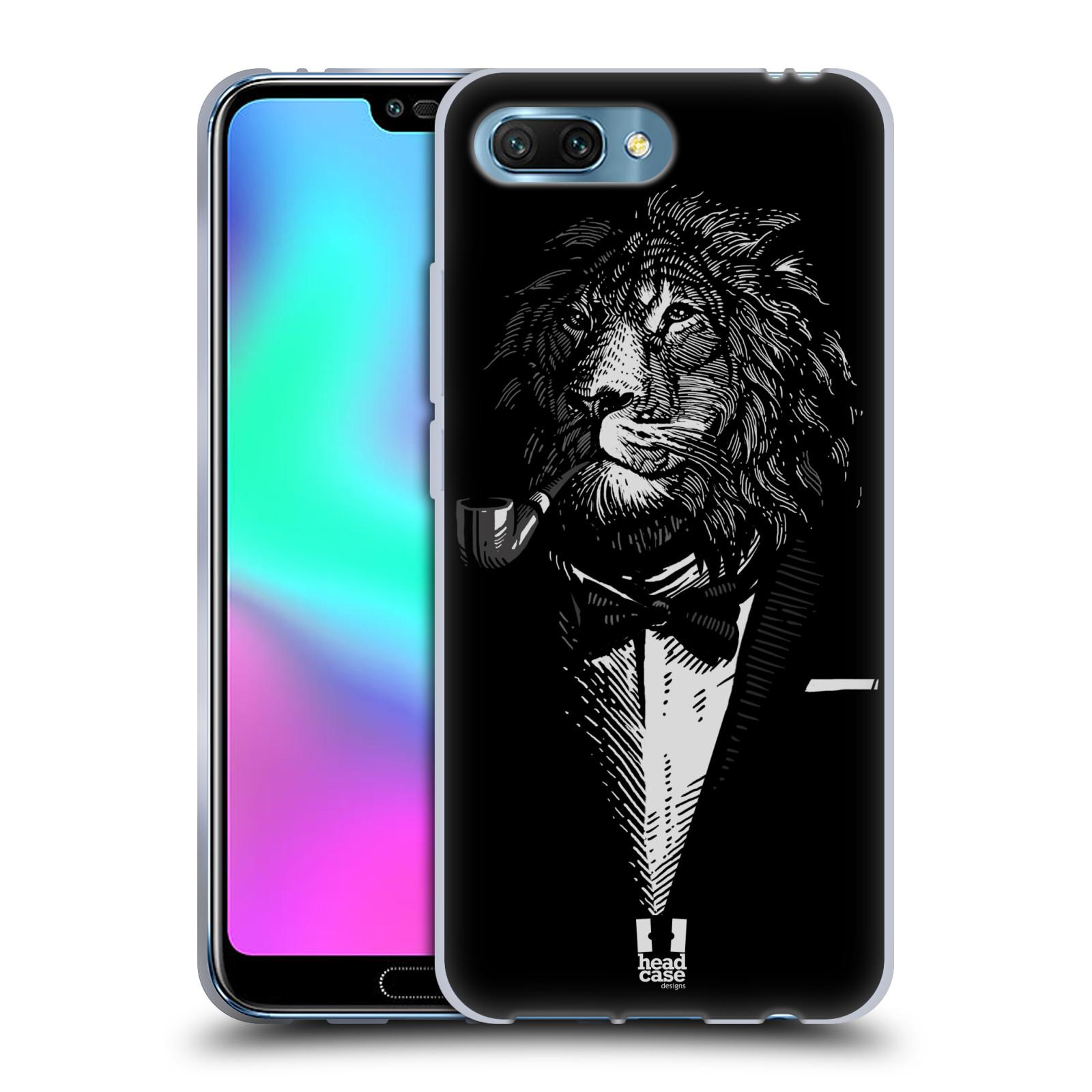 HEAD CASE silikonový obal na mobil Honor 10 vzor Zvíře v obleku lev