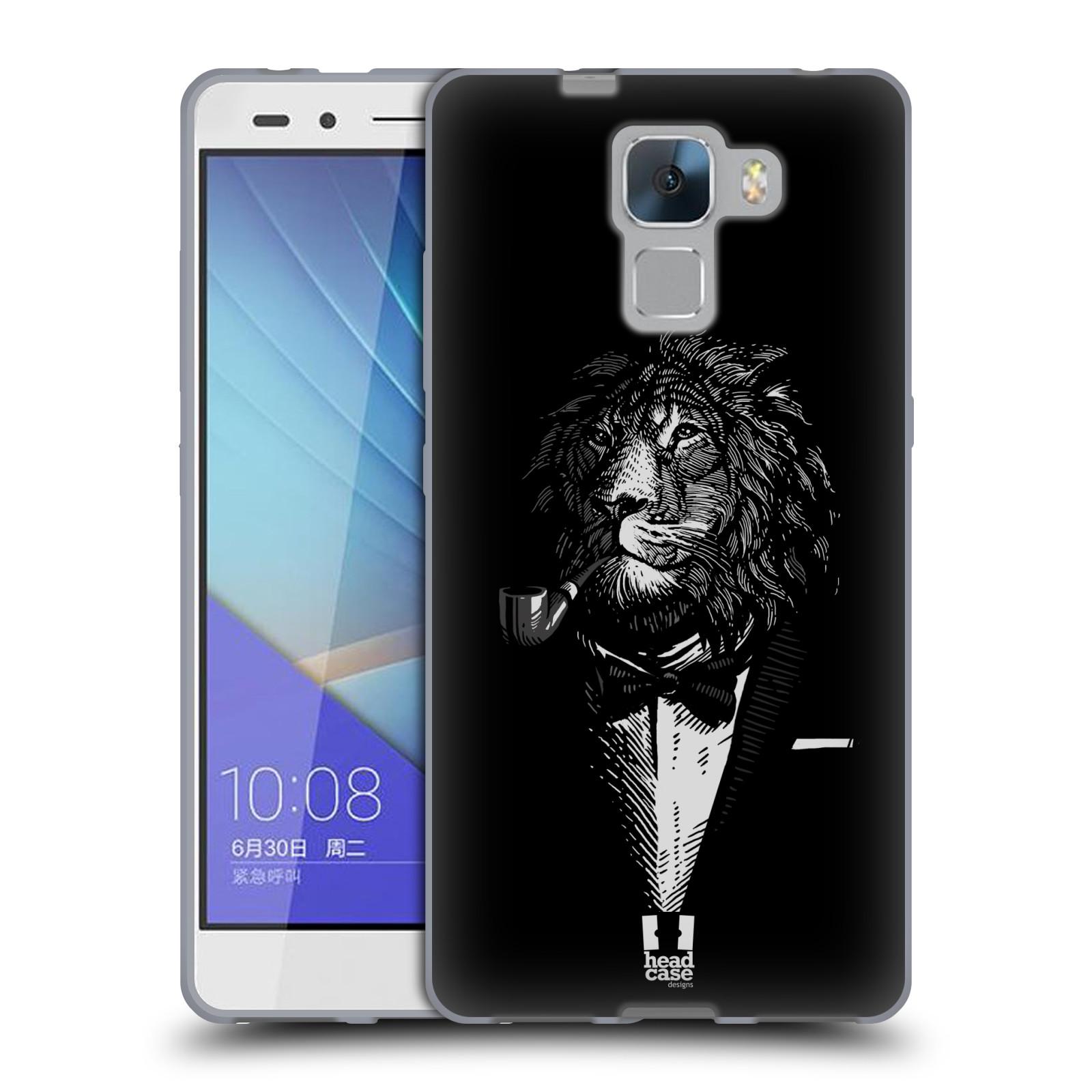 HEAD CASE silikonový obal na mobil HUAWEI HONOR 7 vzor Zvíře v obleku lev  empty 10dfabb412a