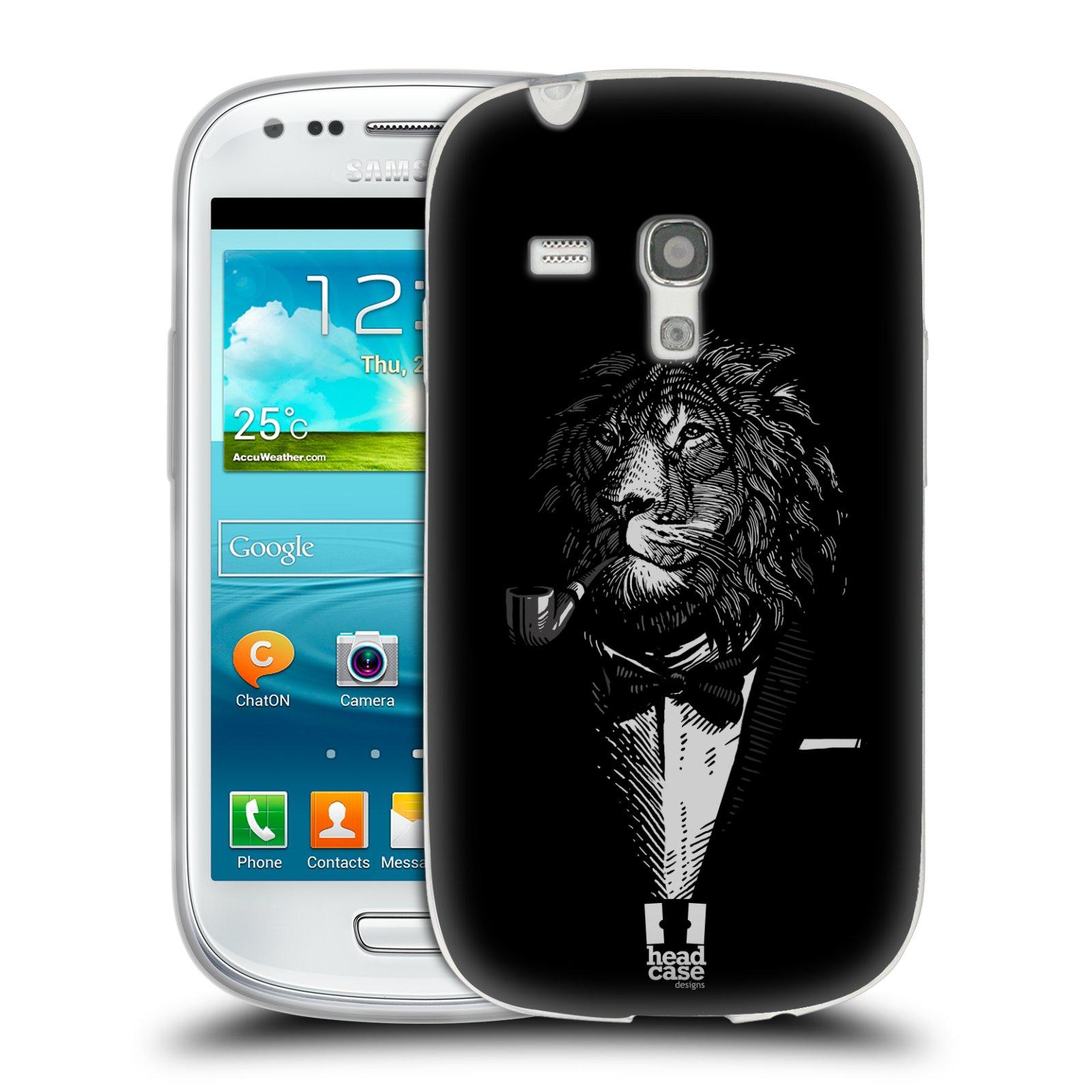 HEAD CASE silikonový obal na mobil Samsung Galaxy S3 MINI i8190 vzor Zvíře v obleku lev