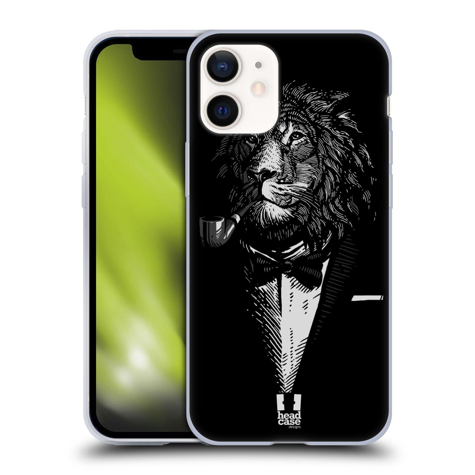 Plastový obal na mobil Apple Iphone 12 MINI vzor Zvíře v obleku lev