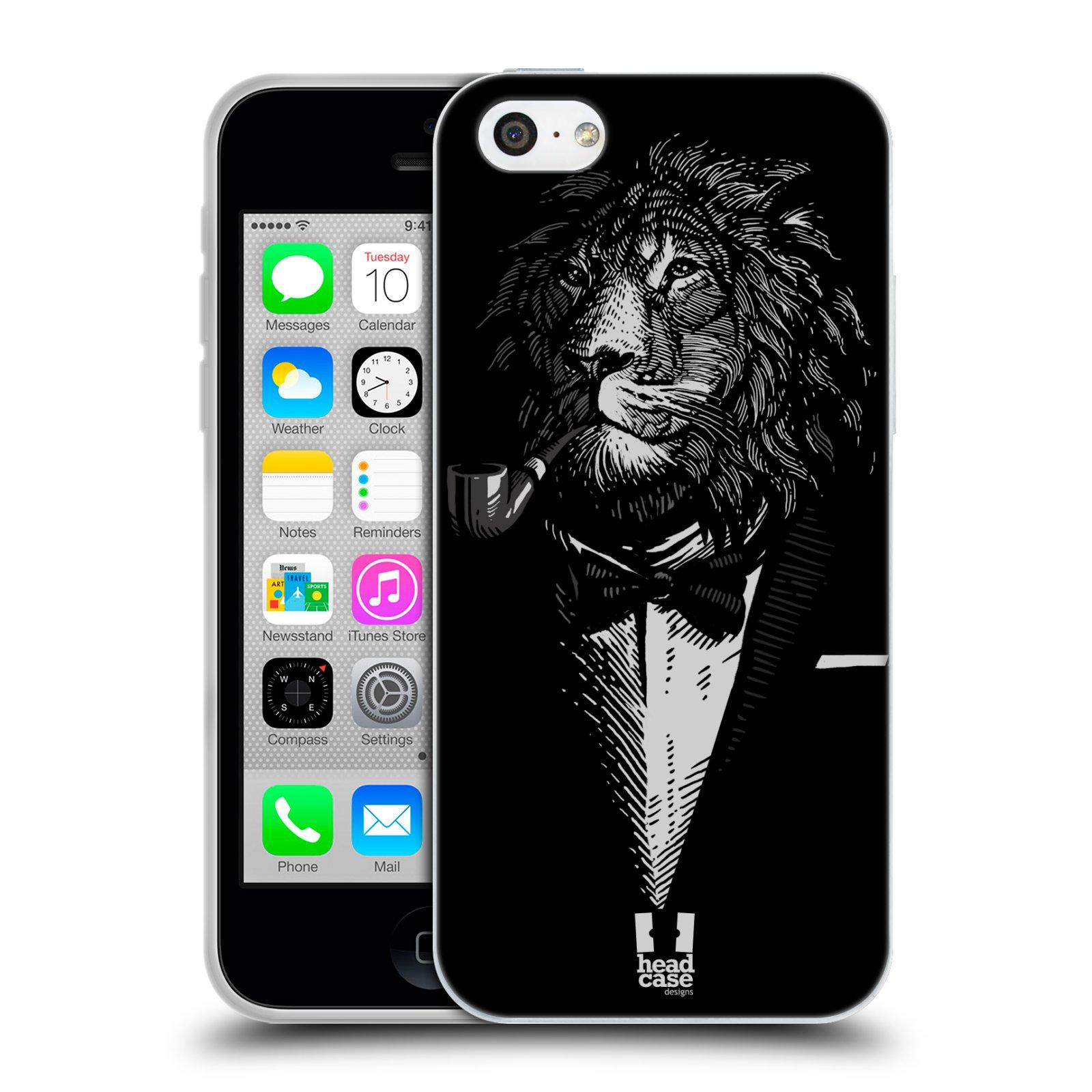 HEAD CASE silikonový obal na mobil Apple Iphone 5C vzor Zvíře v obleku lev