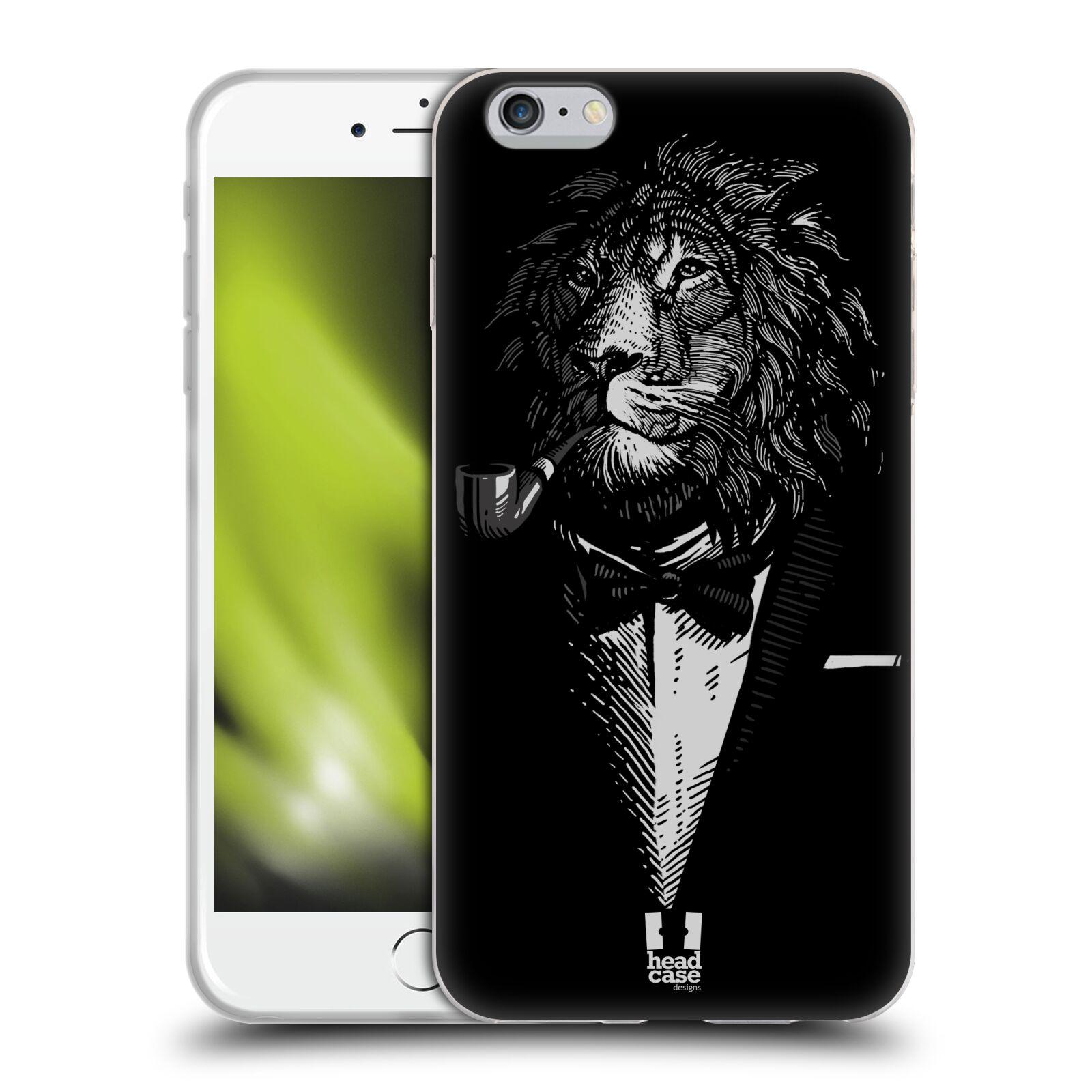 HEAD CASE silikonový obal na mobil Apple Iphone 6 PLUS/ 6S PLUS vzor Zvíře v obleku lev