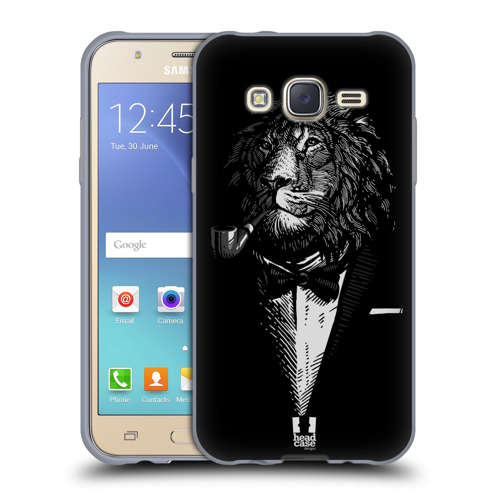 HEAD CASE silikonový obal na mobil Samsung Galaxy J5, J500, (J5 DUOS) vzor Zvíře v obleku lev