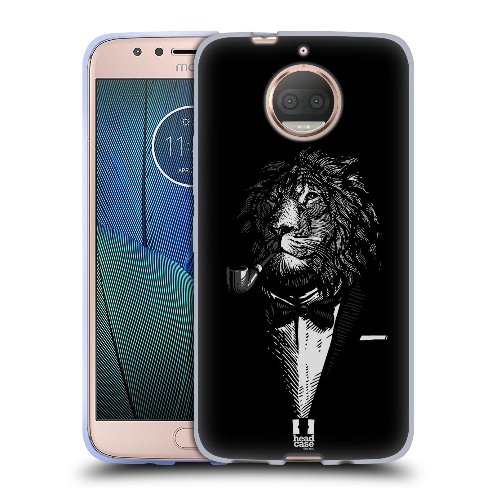 HEAD CASE silikonový obal na mobil Lenovo Moto G5s PLUS vzor Zvíře v obleku lev