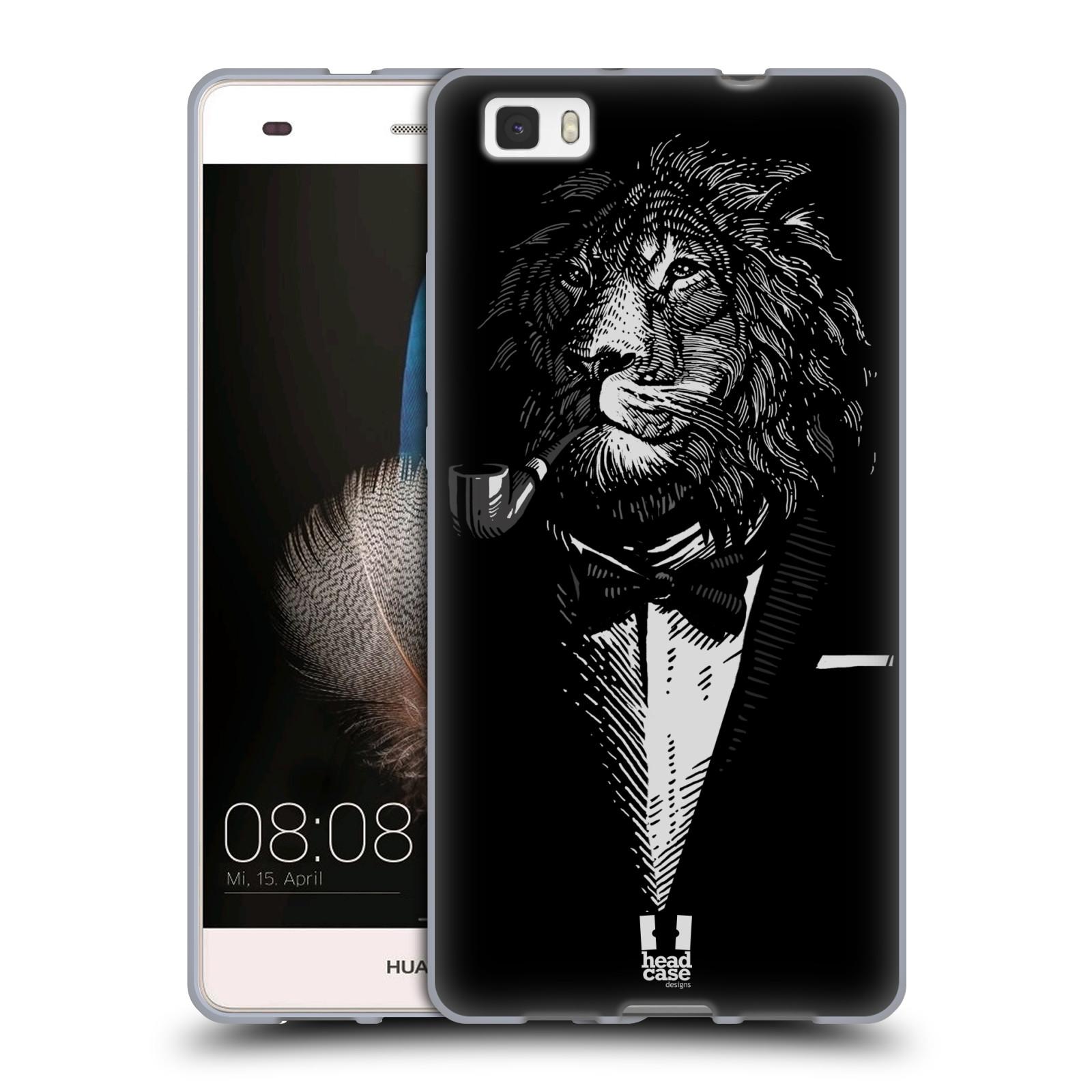 HEAD CASE silikonový obal na mobil HUAWEI P8 LITE vzor Zvíře v obleku lev