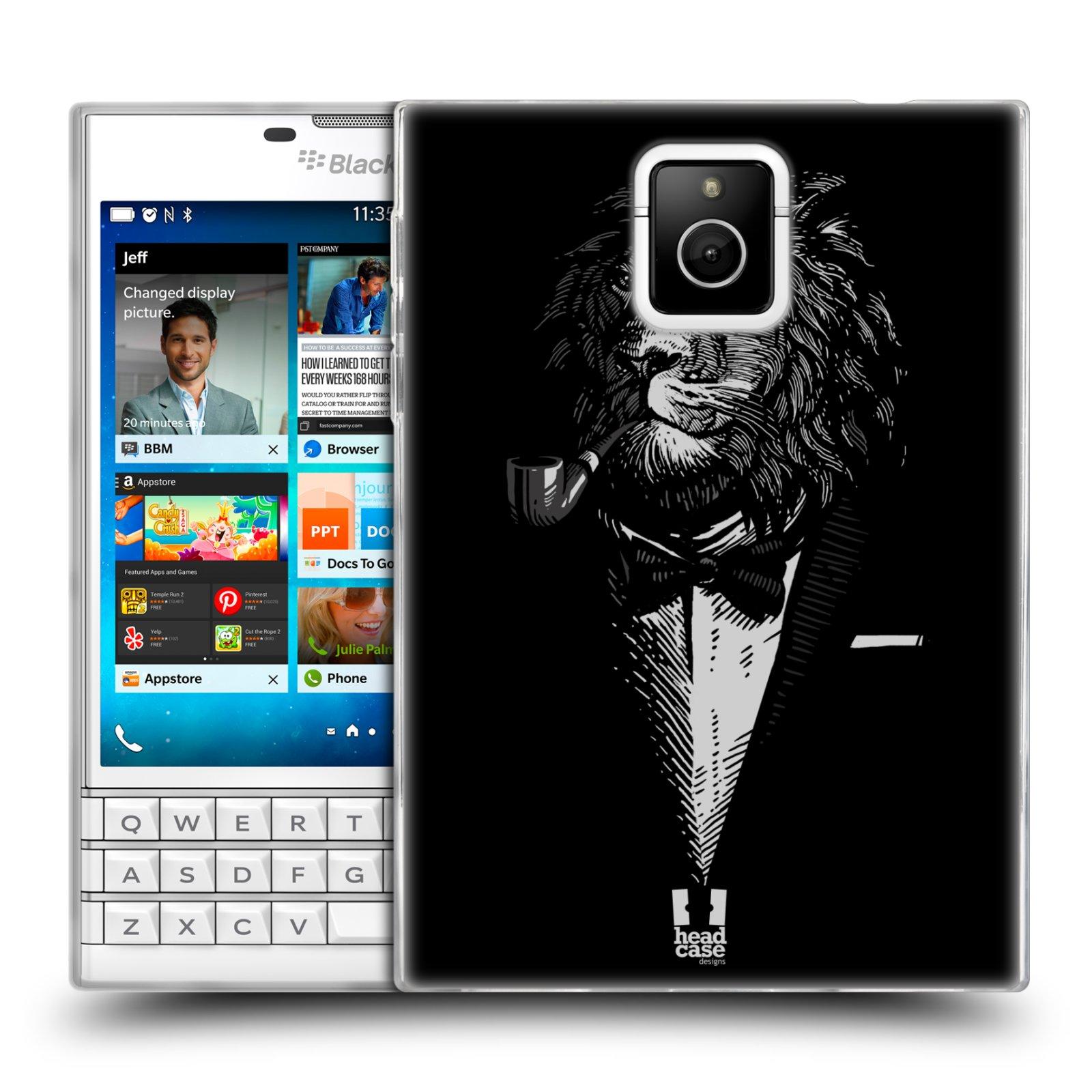 HEAD CASE silikonový obal na mobil Blackberry PASSPORT vzor Zvíře v obleku lev