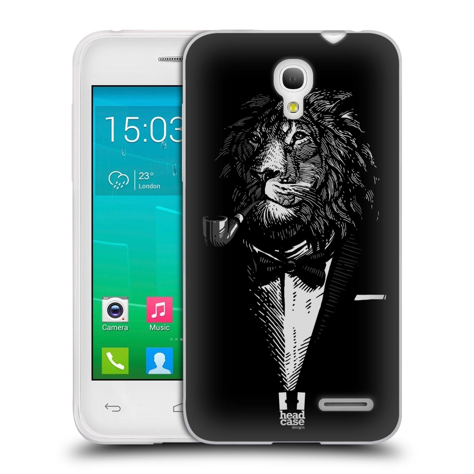 HEAD CASE silikonový obal na mobil Alcatel POP S3 OT-5050Y vzor Zvíře v obleku lev