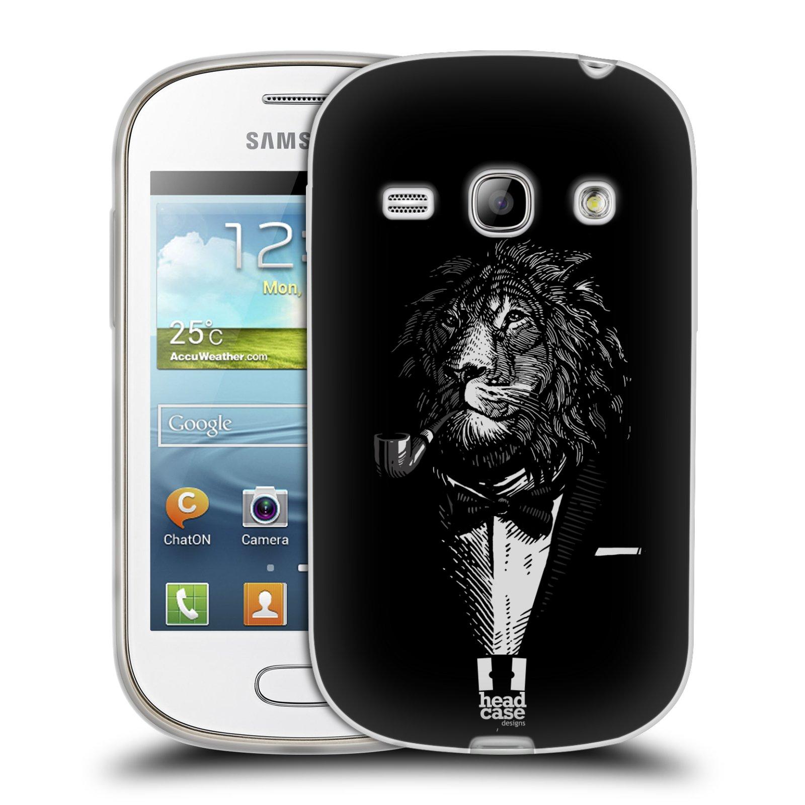 HEAD CASE silikonový obal na mobil Samsung Galaxy FAME vzor Zvíře v obleku lev