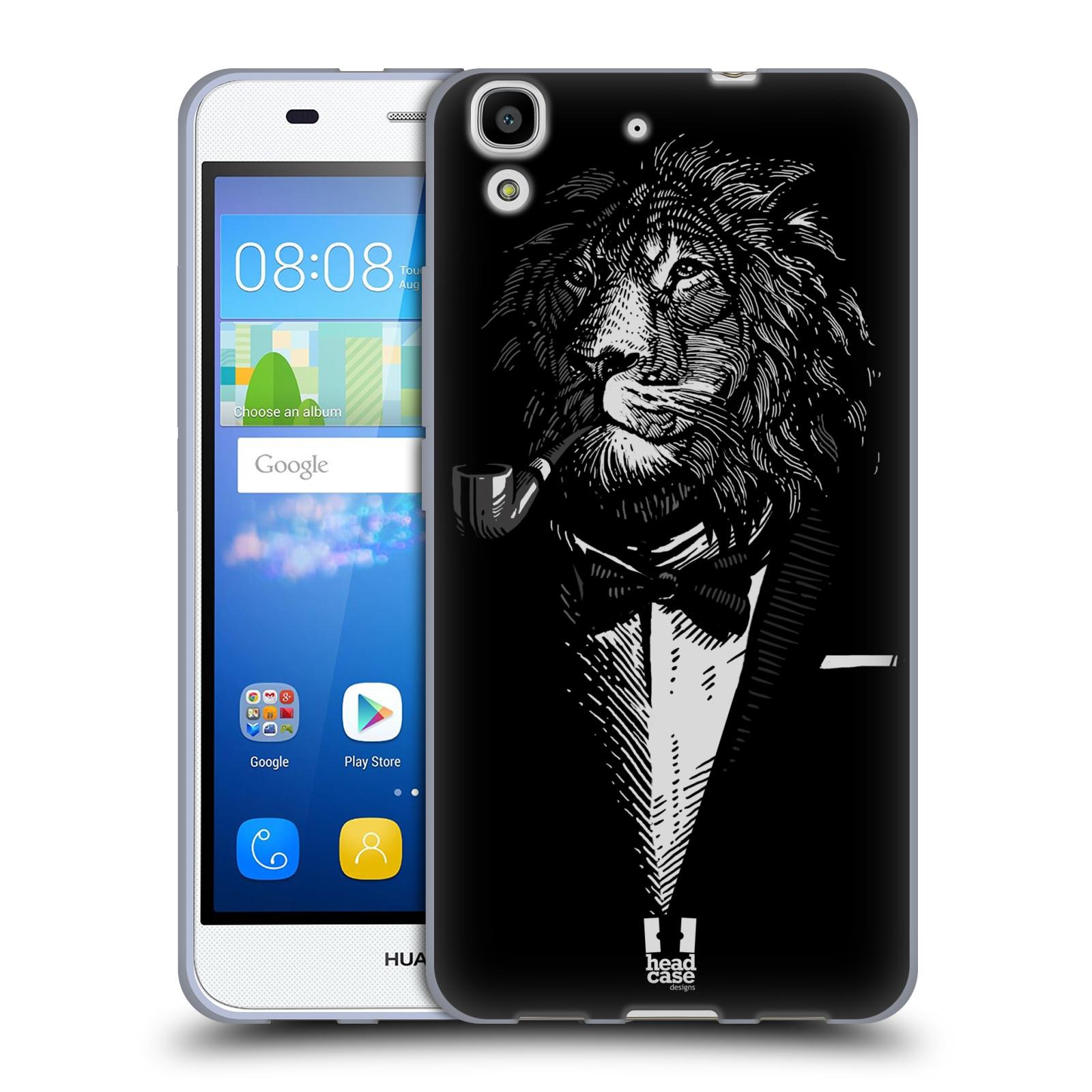 HEAD CASE silikonový obal na mobil HUAWEI Y6 vzor Zvíře v obleku lev