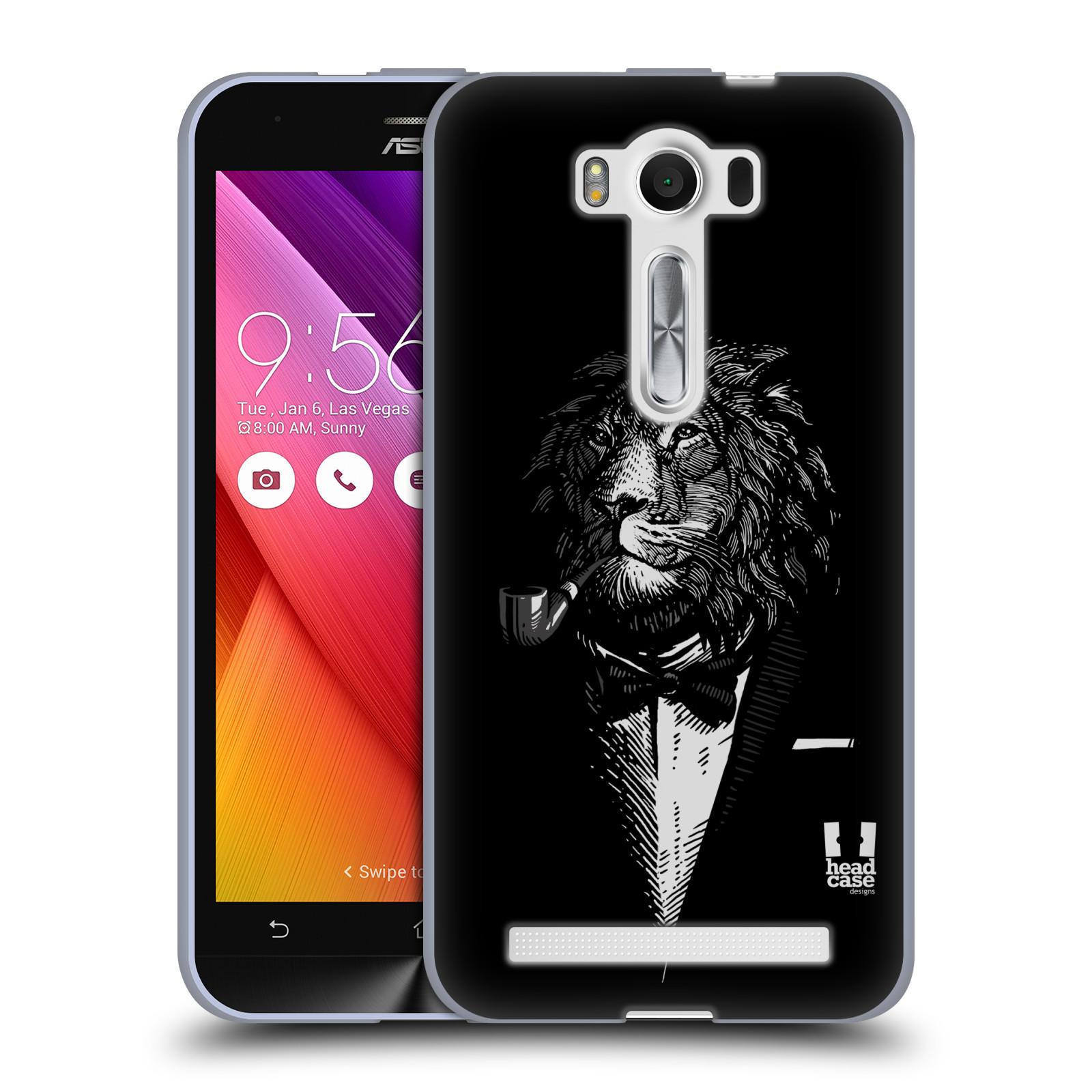 """HEAD CASE silikonový obal na mobil Asus Zenfone 2 LASER (ZE500KL s 5"""" displejem) vzor Zvíře v obleku lev"""