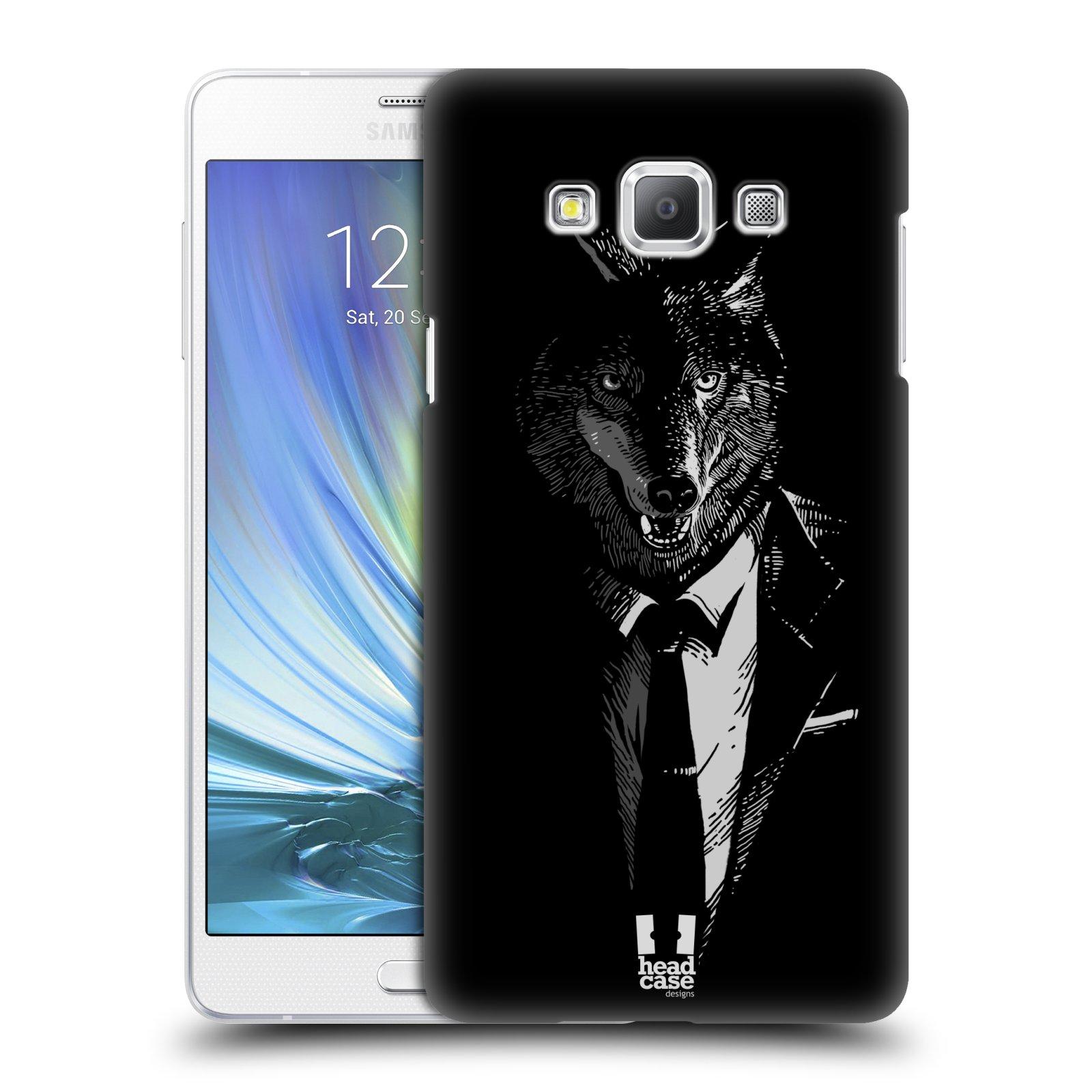 HEAD CASE plastový obal na mobil SAMSUNG GALAXY A7 vzor Zvíře v obleku vlk
