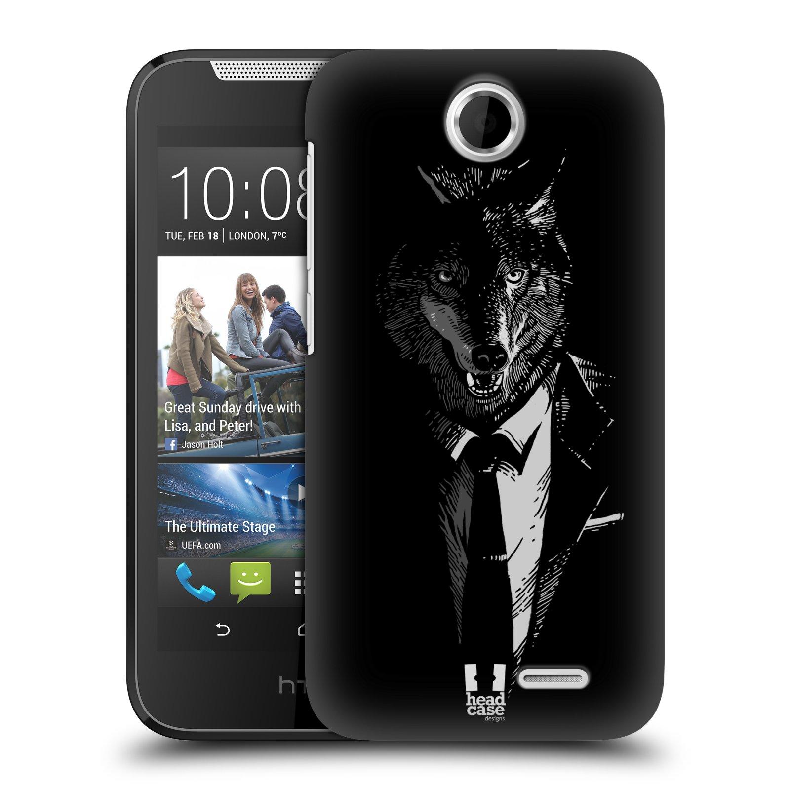 HEAD CASE plastový obal na mobil HTC Desire 310 vzor Zvíře v obleku vlk