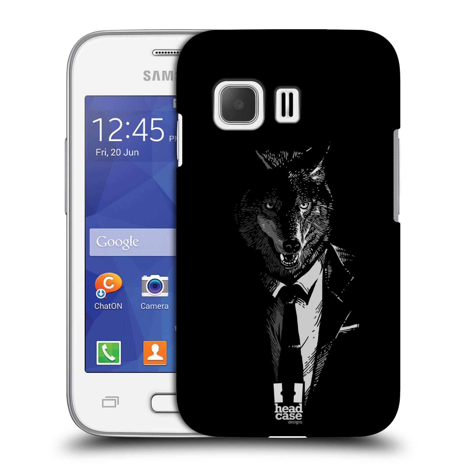 HEAD CASE plastový obal na mobil SAMSUNG Galaxy Young 2 (G130) vzor Zvíře v obleku vlk