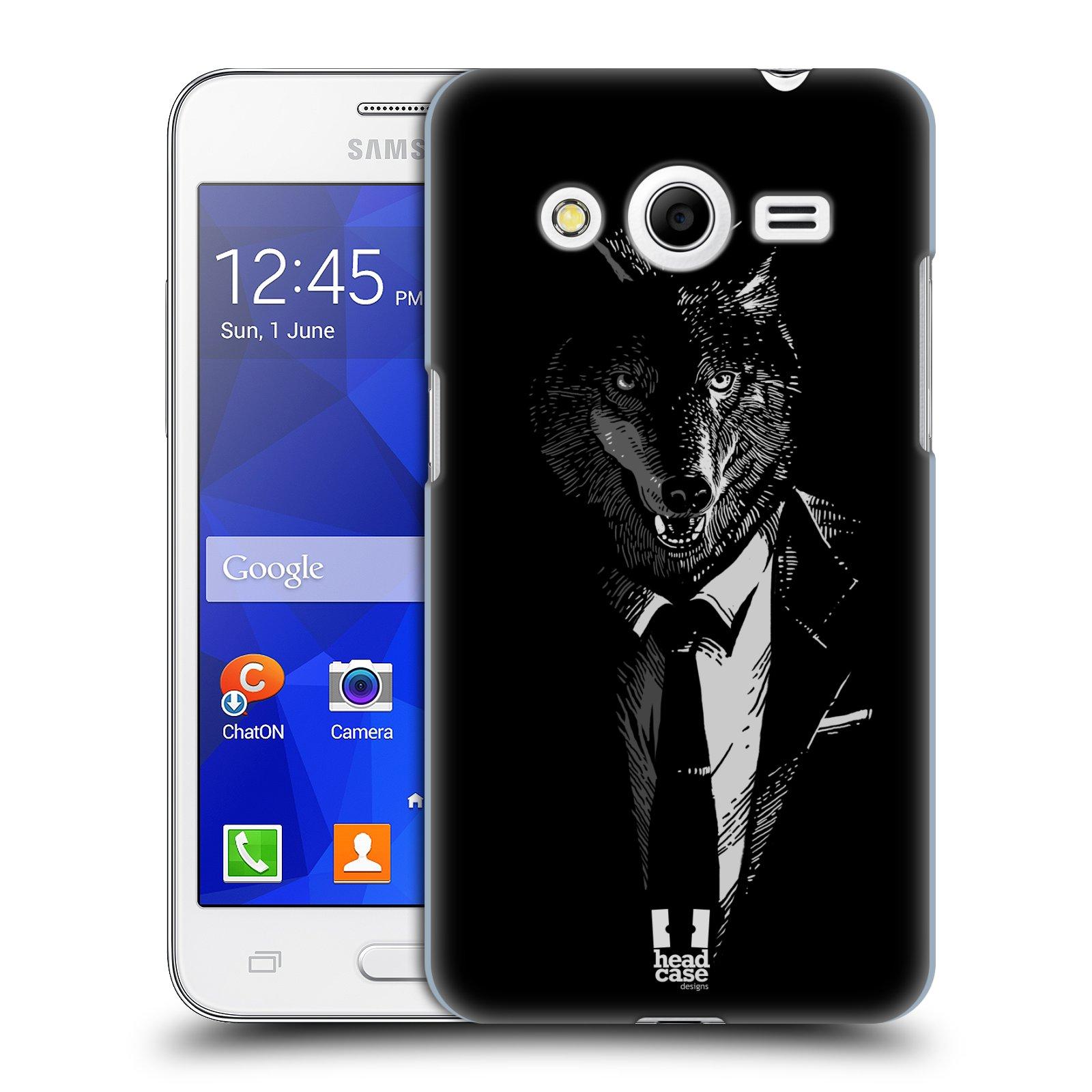 HEAD CASE plastový obal na mobil SAMSUNG GALAXY Core 2 (G355H) vzor Zvíře v obleku vlk