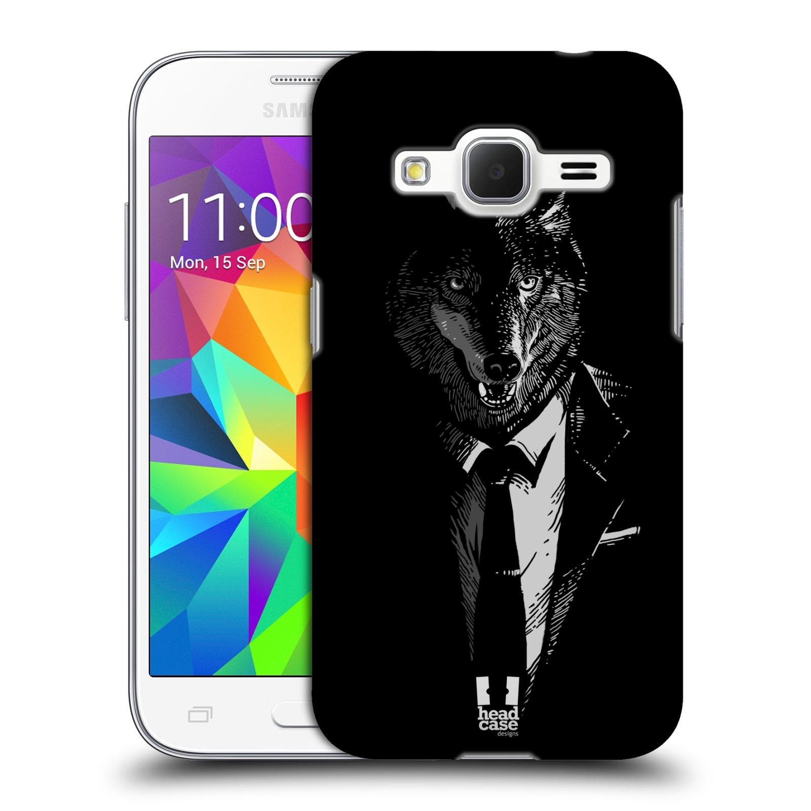 HEAD CASE plastový obal na mobil SAMSUNG GALAXY Core Prime (Core Prime VE) vzor Zvíře v obleku vlk