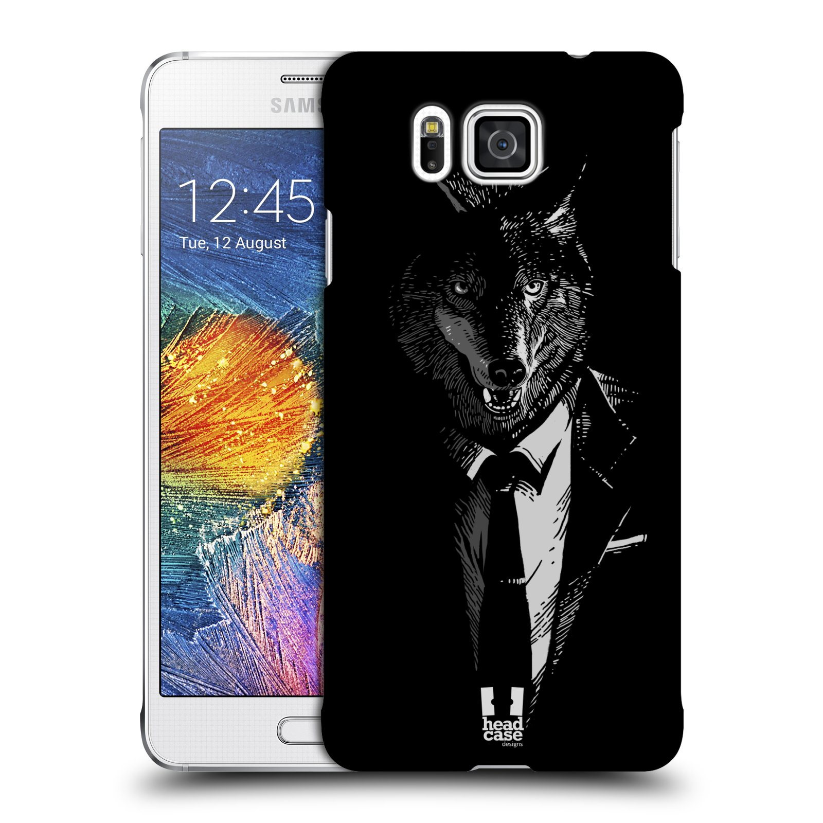 HEAD CASE plastový obal na mobil SAMSUNG Galaxy Alpha (G850) vzor Zvíře v obleku vlk