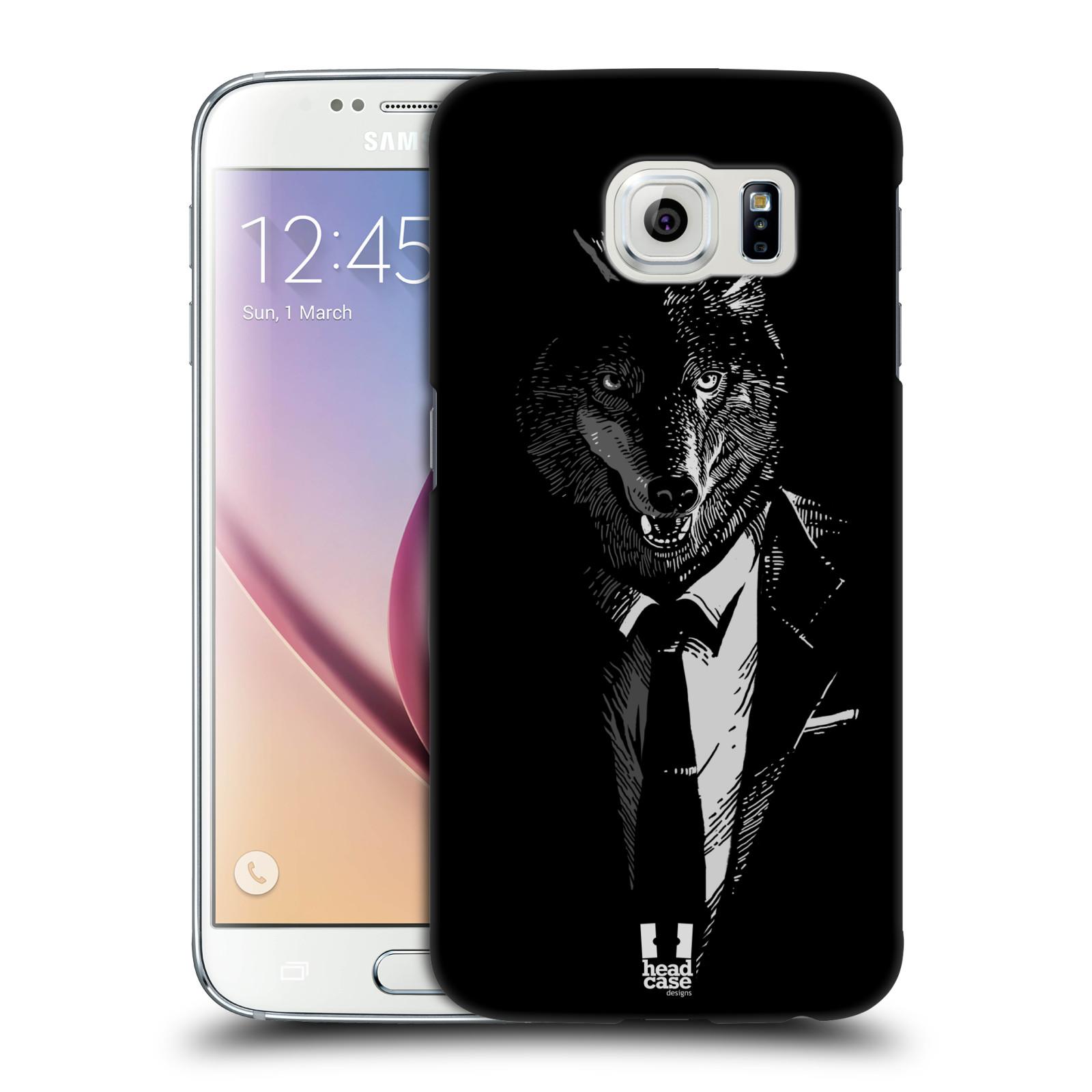 HEAD CASE plastový obal na mobil SAMSUNG Galaxy S6 (G9200, G920F) vzor Zvíře v obleku vlk