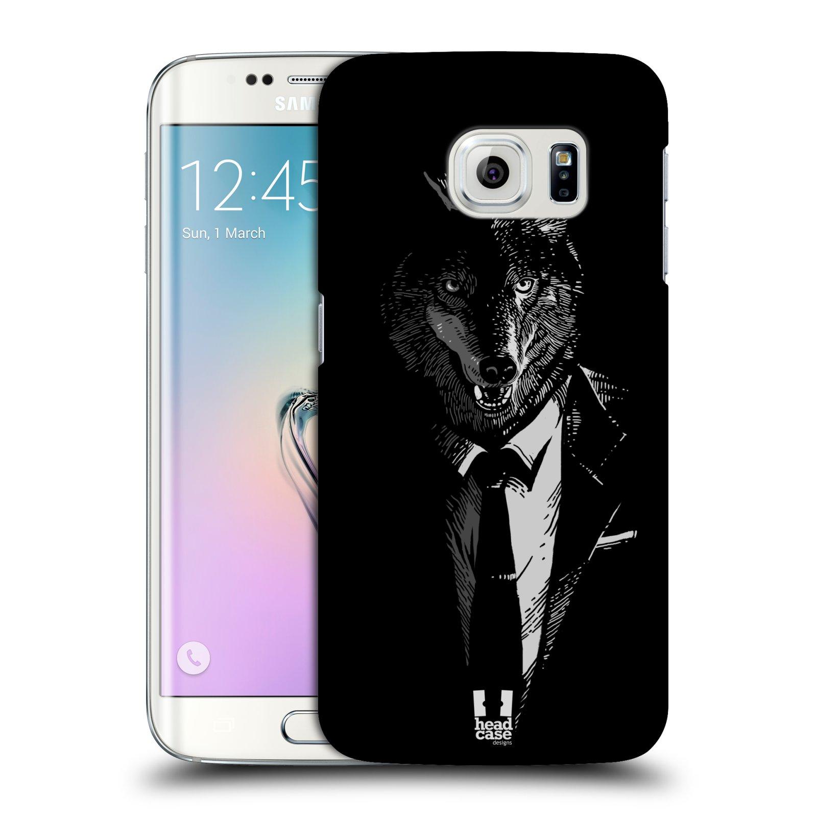 HEAD CASE plastový obal na mobil SAMSUNG Galaxy S6 EDGE (G9250, G925, G925F) vzor Zvíře v obleku vlk