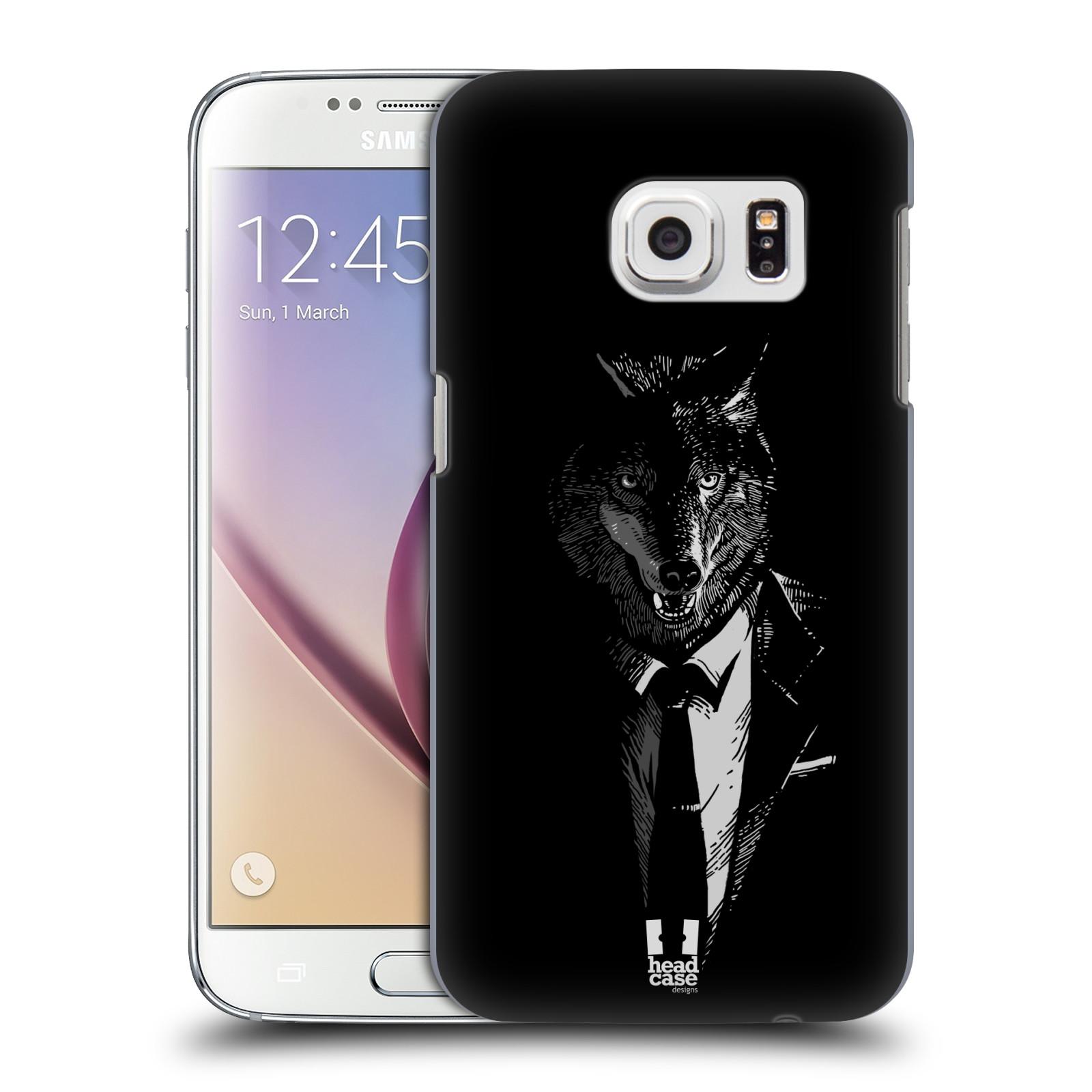 HEAD CASE plastový obal na mobil SAMSUNG GALAXY S7 vzor Zvíře v obleku vlk