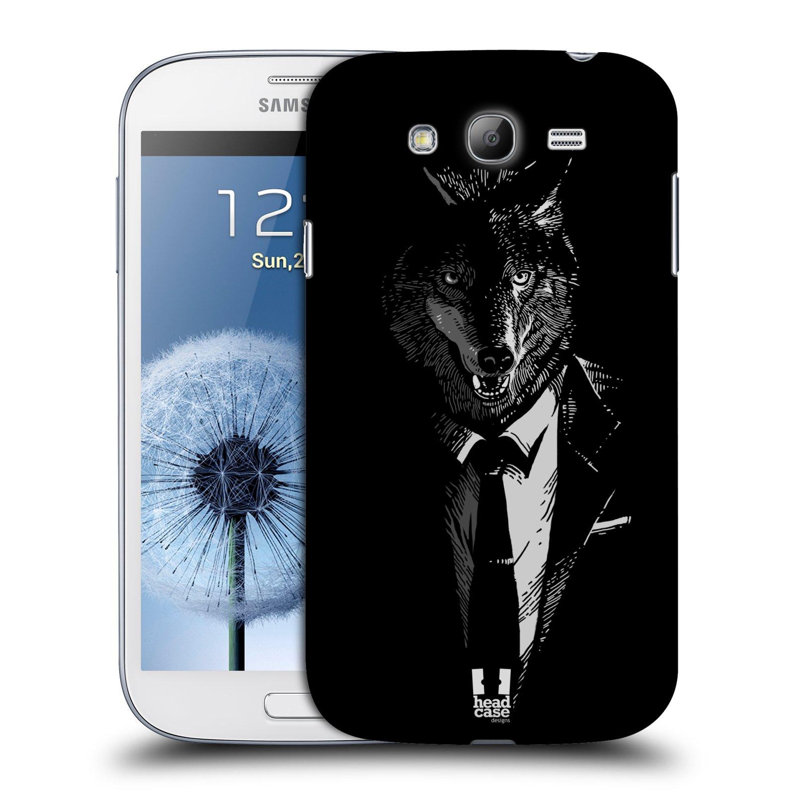 HEAD CASE plastový obal na mobil SAMSUNG GALAXY Grand i9080 vzor Zvíře v obleku vlk