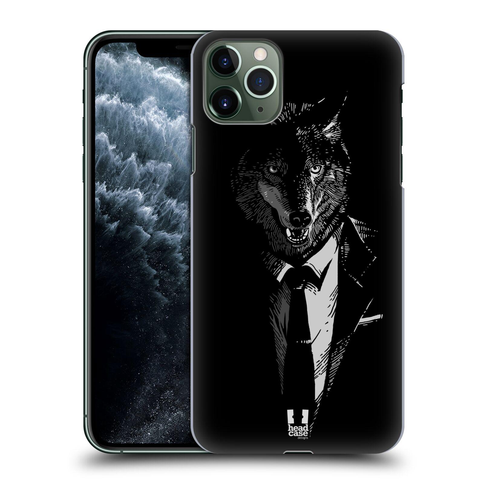 Pouzdro na mobil Apple Iphone 11 PRO MAX - HEAD CASE - vzor Zvíře v obleku vlk