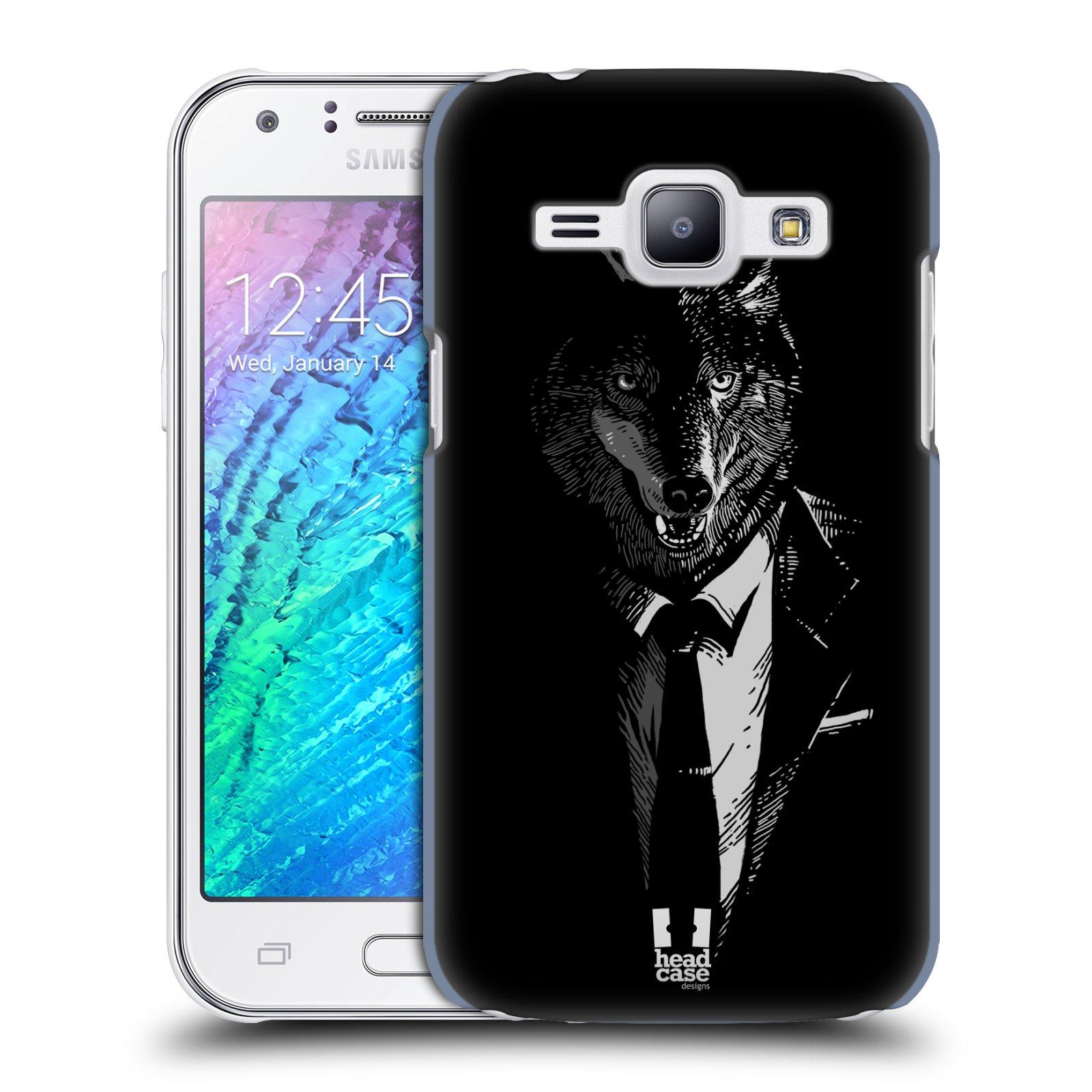 HEAD CASE plastový obal na mobil SAMSUNG Galaxy J1, J100 vzor Zvíře v obleku vlk
