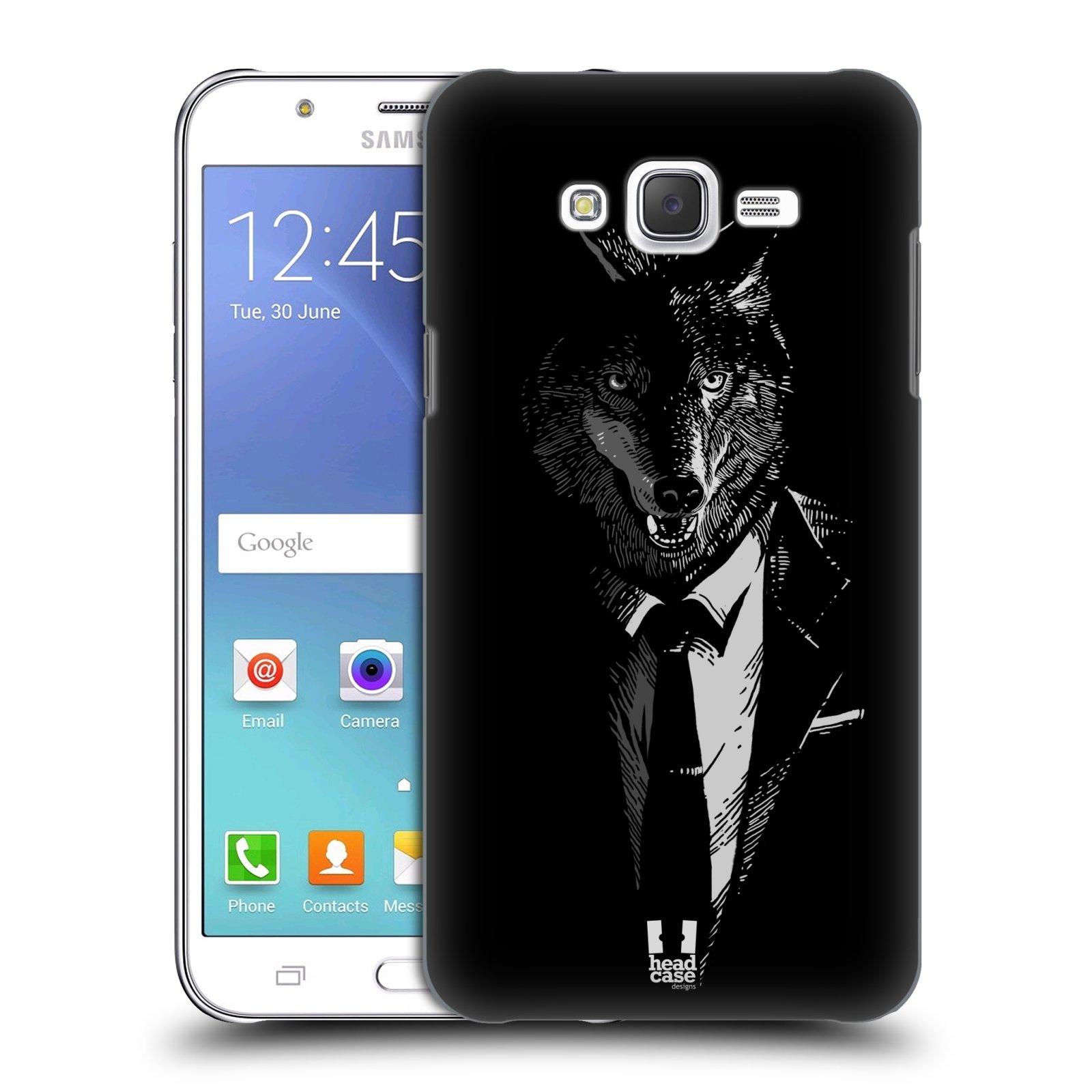HEAD CASE plastový obal na mobil SAMSUNG Galaxy J7, J700 vzor Zvíře v obleku vlk