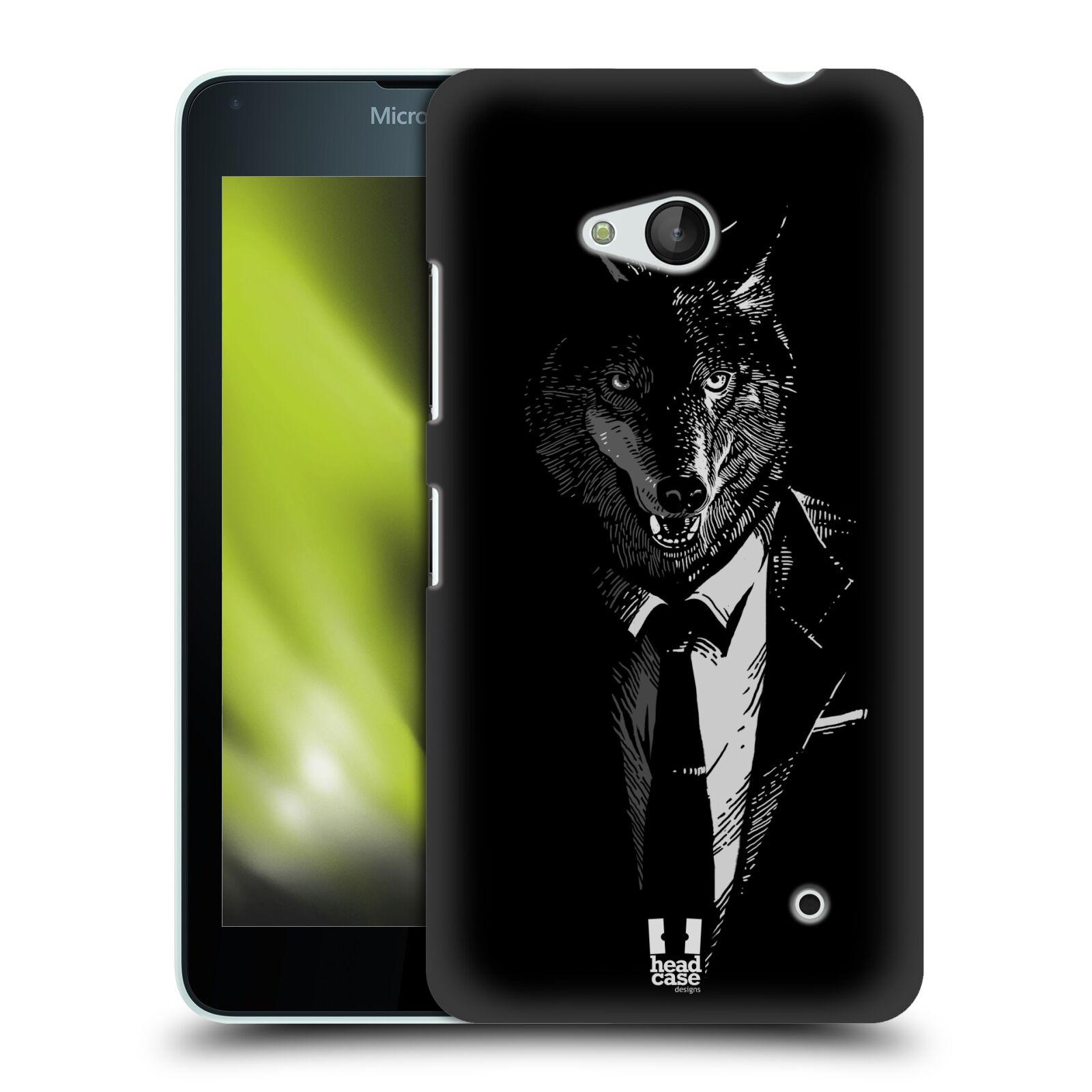 HEAD CASE plastový obal na mobil Nokia Lumia 640 vzor Zvíře v obleku vlk