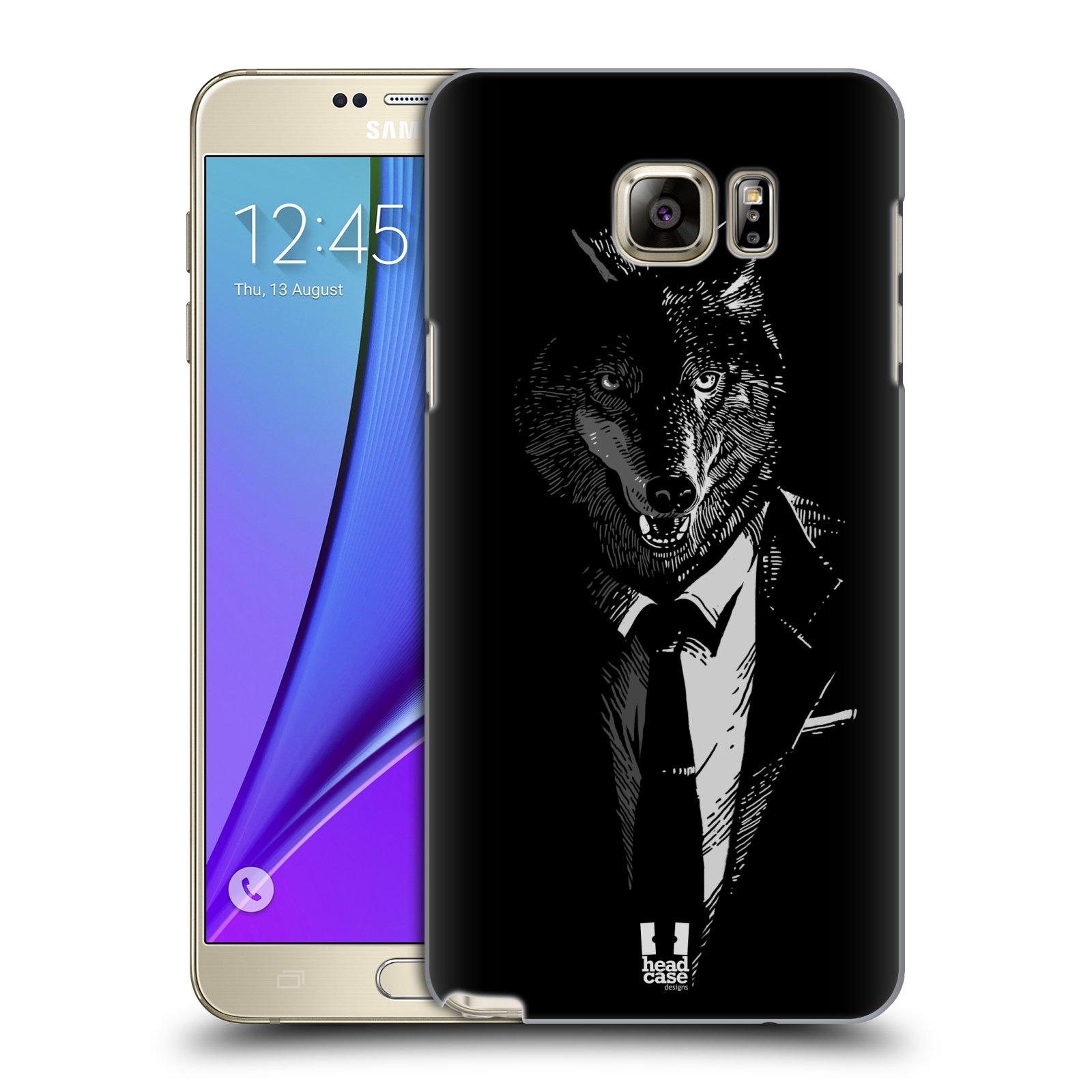 HEAD CASE plastový obal na mobil SAMSUNG Galaxy Note 5 (N920) vzor Zvíře v obleku vlk