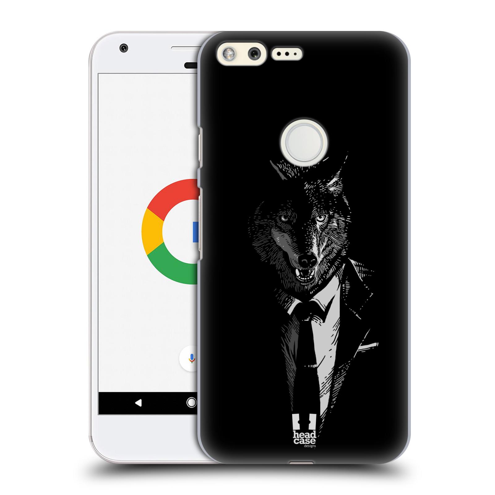 HEAD CASE plastový obal na mobil GOOGLE Pixel vzor Zvíře v obleku vlk