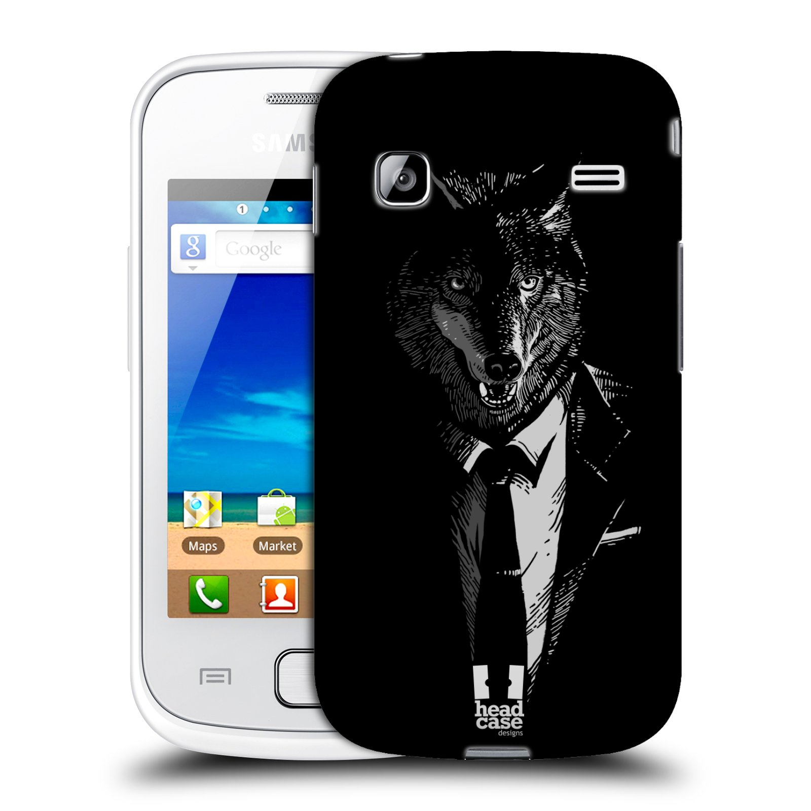 HEAD CASE plastový obal na mobil SAMSUNG GALAXY GIO (S5660) vzor Zvíře v obleku vlk