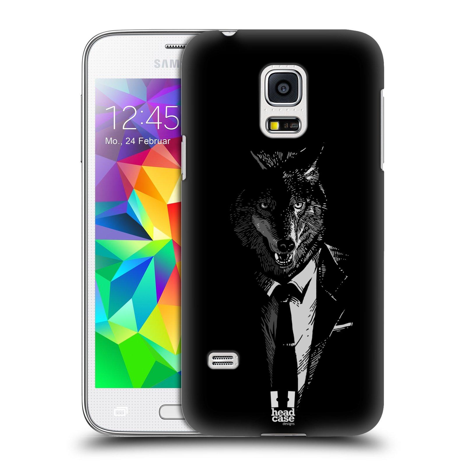 HEAD CASE plastový obal na mobil SAMSUNG Galaxy S5 MINI / S5 MINI DUOS vzor Zvíře v obleku vlk