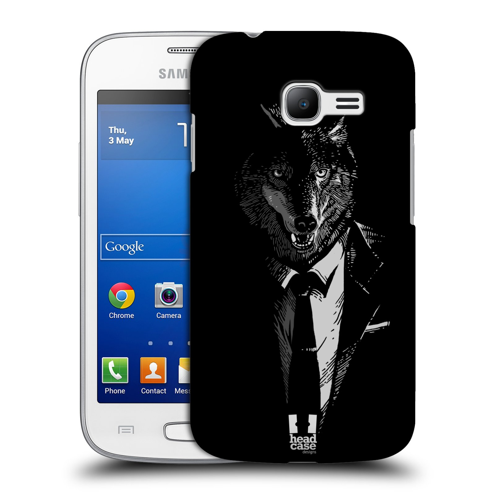 HEAD CASE plastový obal na mobil SAMSUNG GALAXY Star Pro S7260/S7262 DUOS vzor Zvíře v obleku vlk