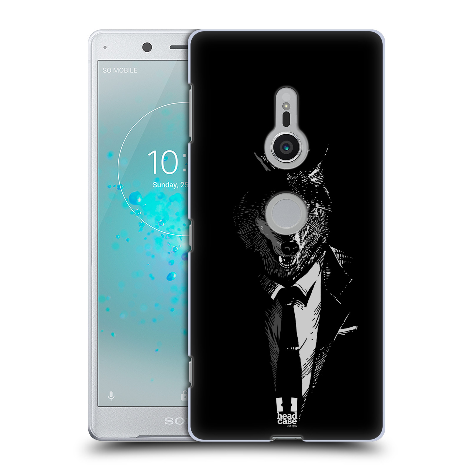 HEAD CASE plastový obal na mobil Sony Xperia XZ2 vzor Zvíře v obleku vlk