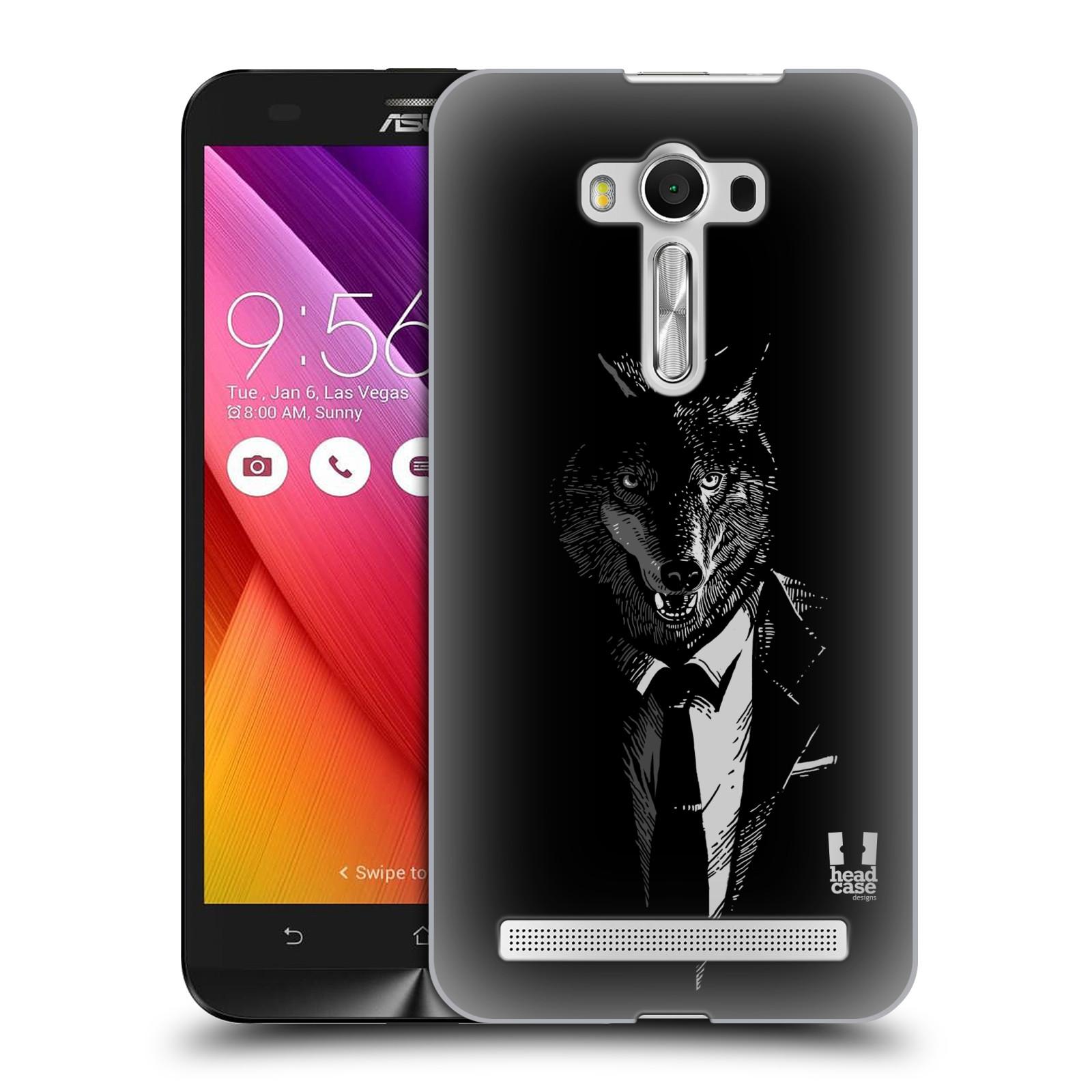 HEAD CASE plastový obal na mobil Asus Zenfone 2 LASER (5,5 displej ZE550KL) vzor Zvíře v obleku vlk
