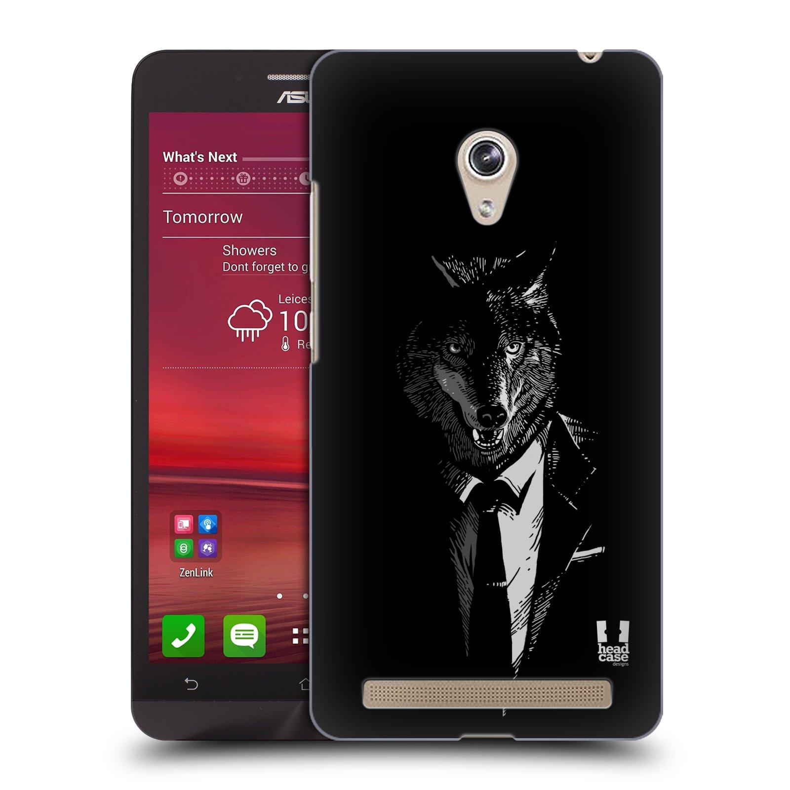 HEAD CASE plastový obal na mobil Asus Zenfone 6 vzor Zvíře v obleku vlk