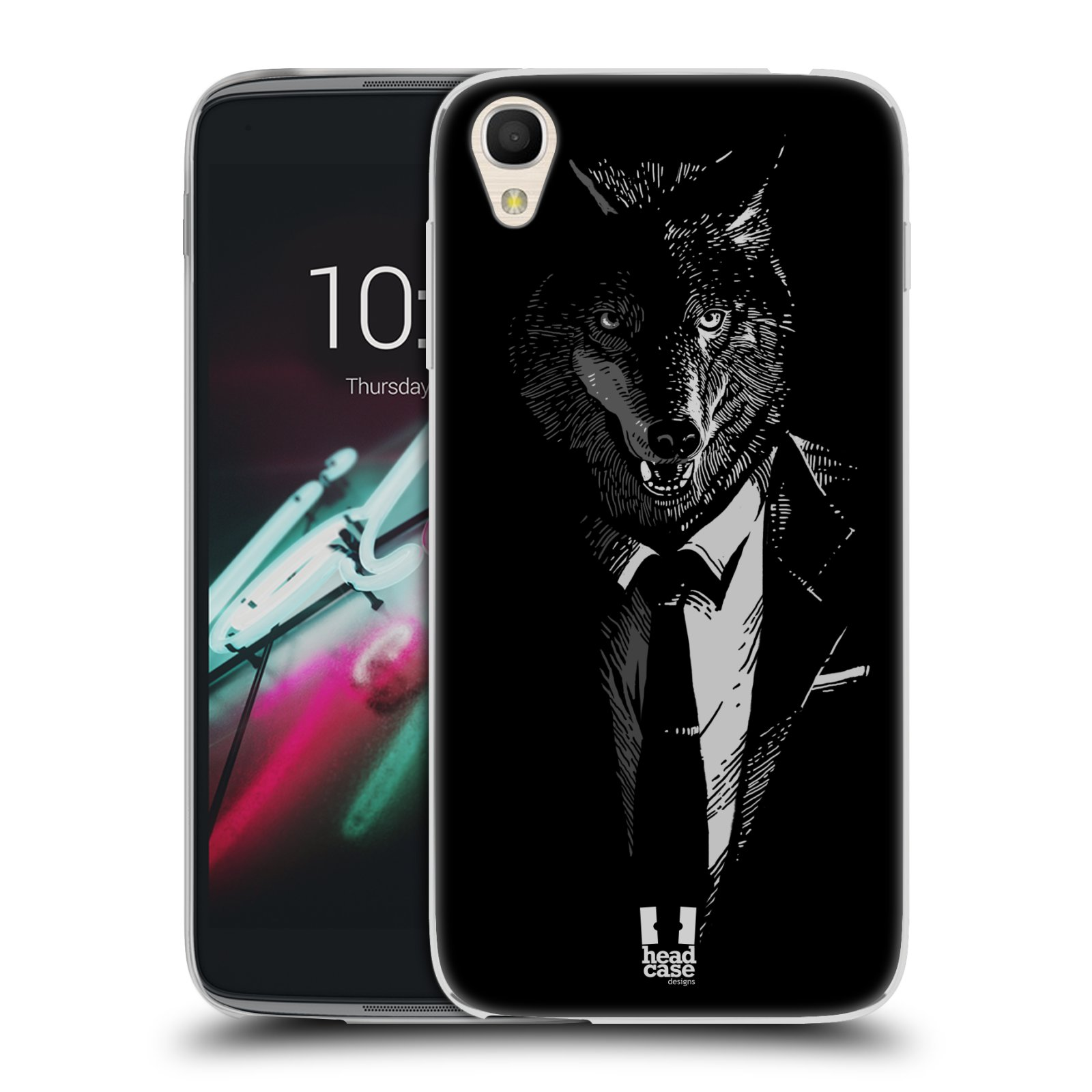 HEAD CASE silikonový obal na mobil Alcatel Idol 3 OT-6039Y (4.7) vzor Zvíře v obleku vlk