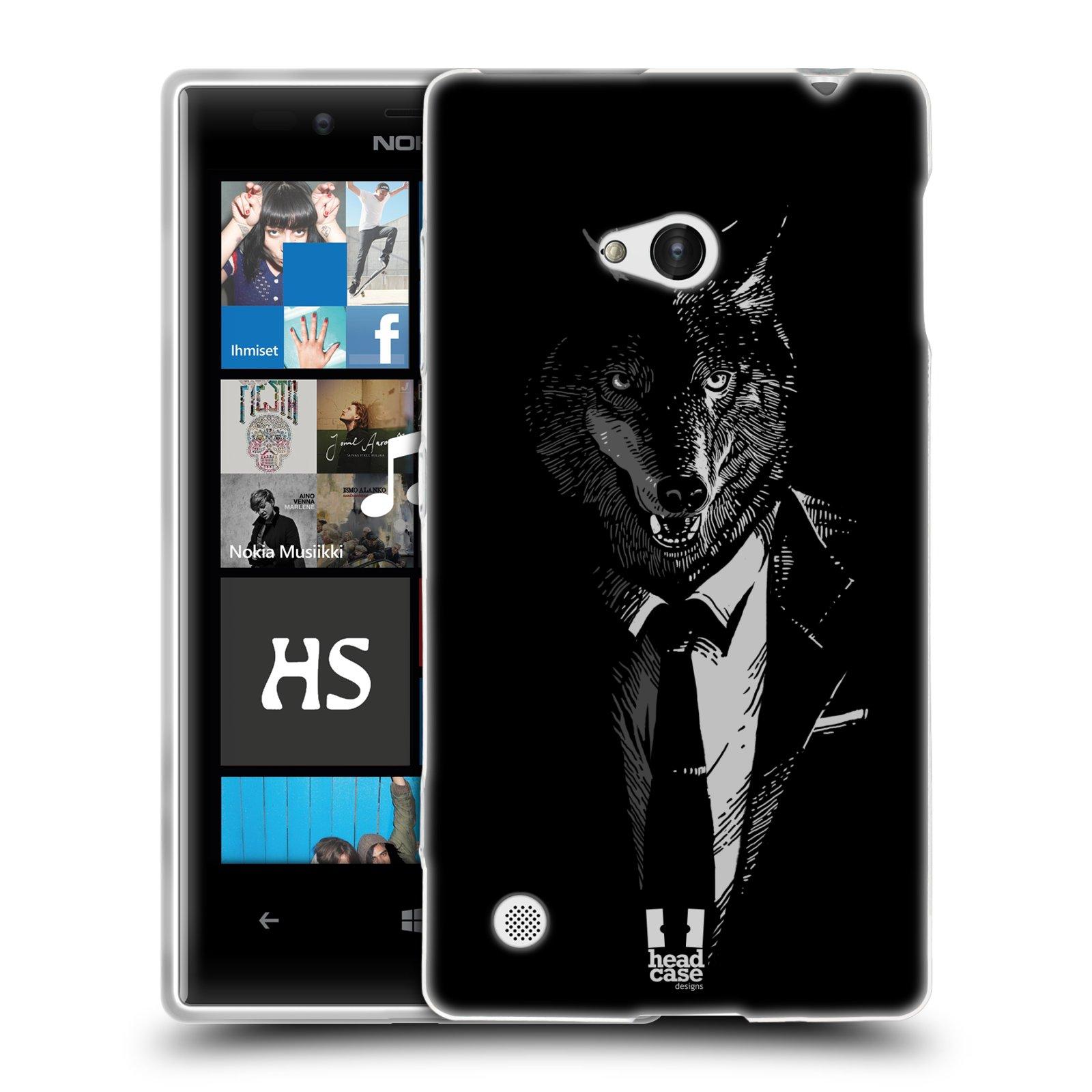 HEAD CASE silikonový obal na mobil NOKIA Lumia 720 vzor Zvíře v obleku vlk