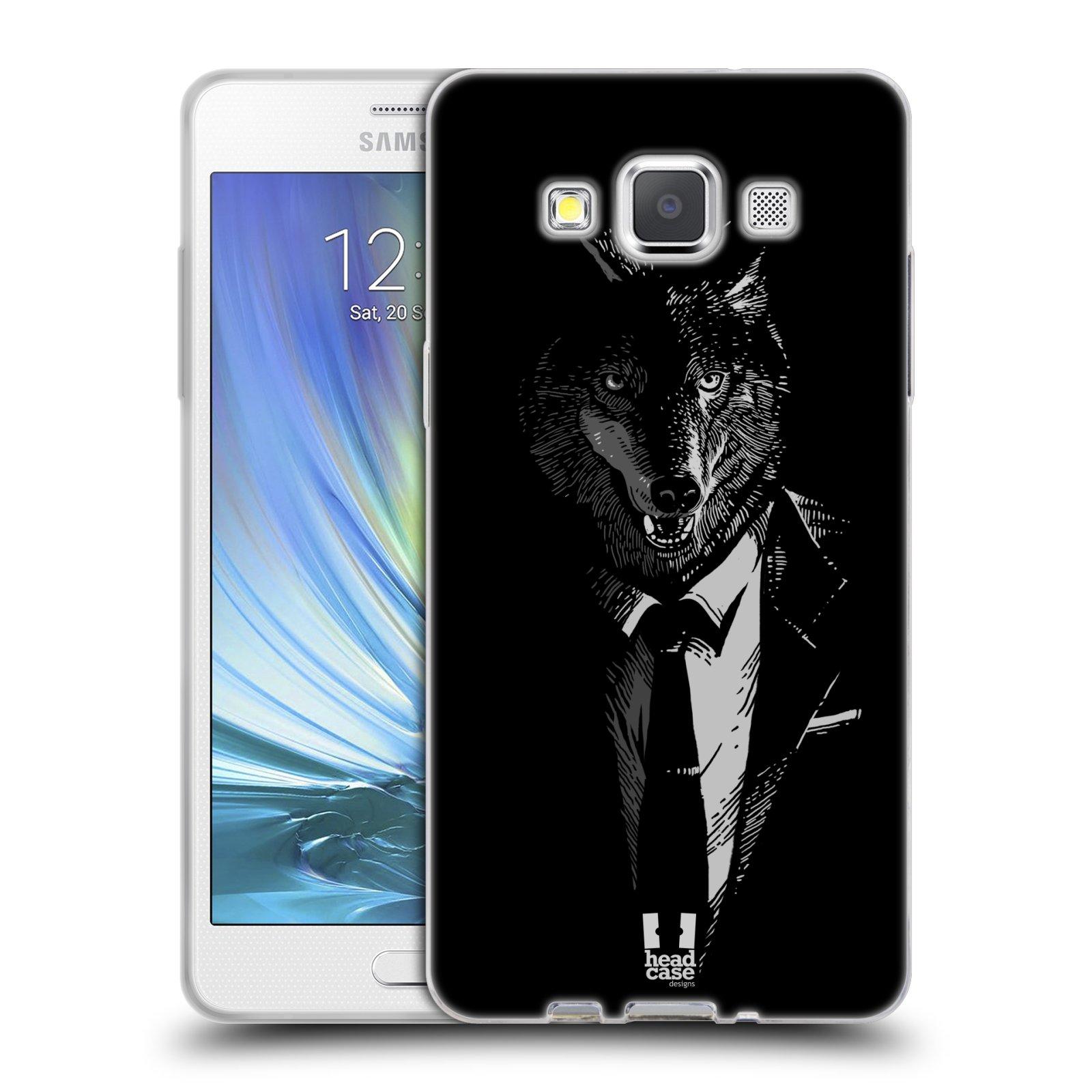 HEAD CASE silikonový obal na mobil Samsung Galaxy A5 vzor Zvíře v obleku vlk
