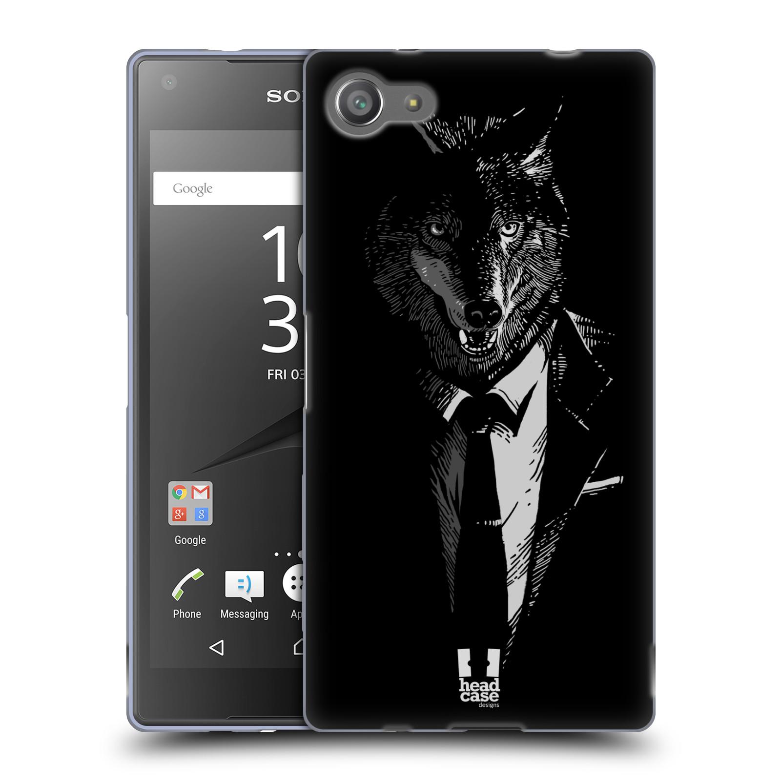HEAD CASE silikonový obal na mobil Sony Xperia Z5 COMPACT vzor Zvíře v obleku vlk