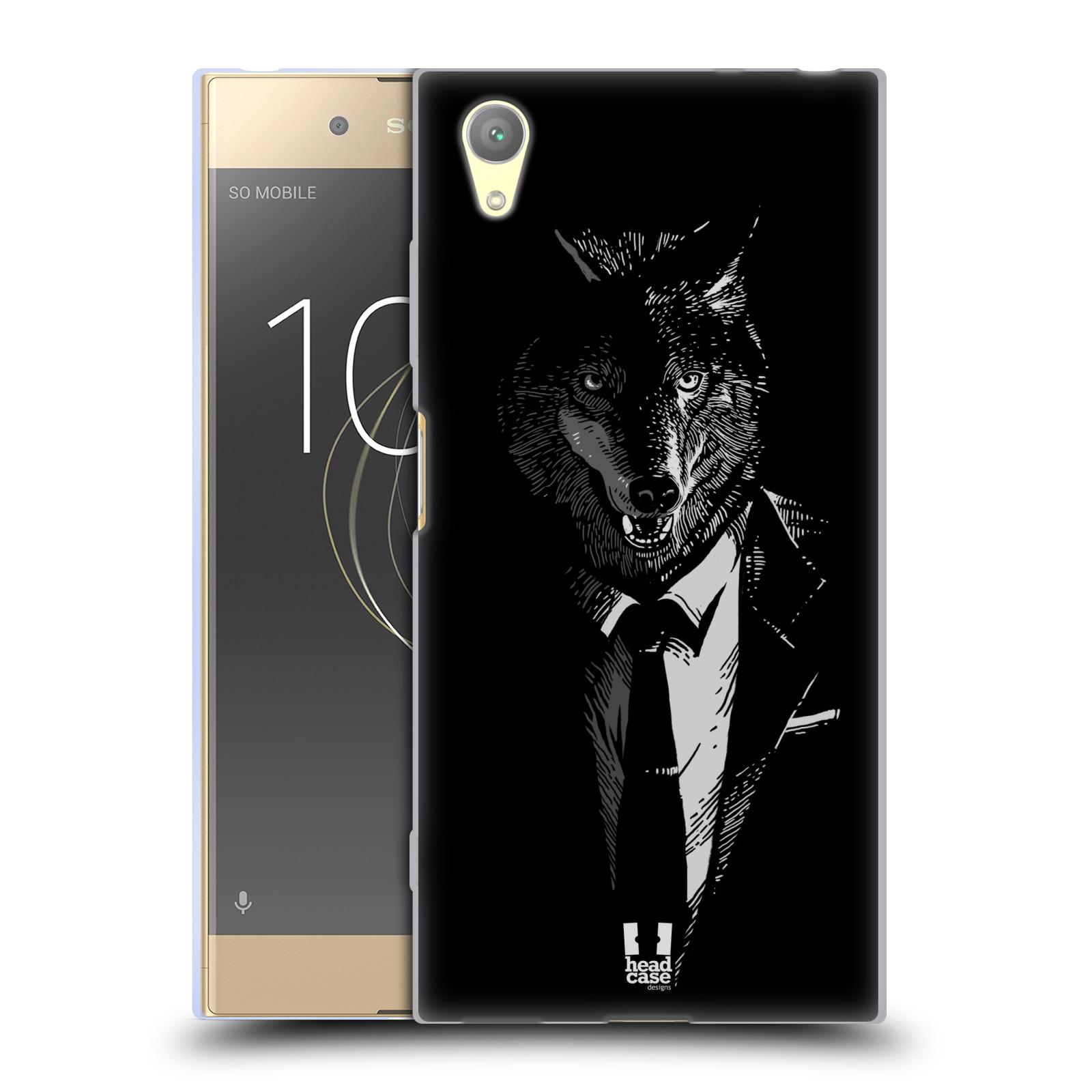HEAD CASE silikonový obal na mobil Sony Xperia XA1 PLUS vzor Zvíře v obleku vlk