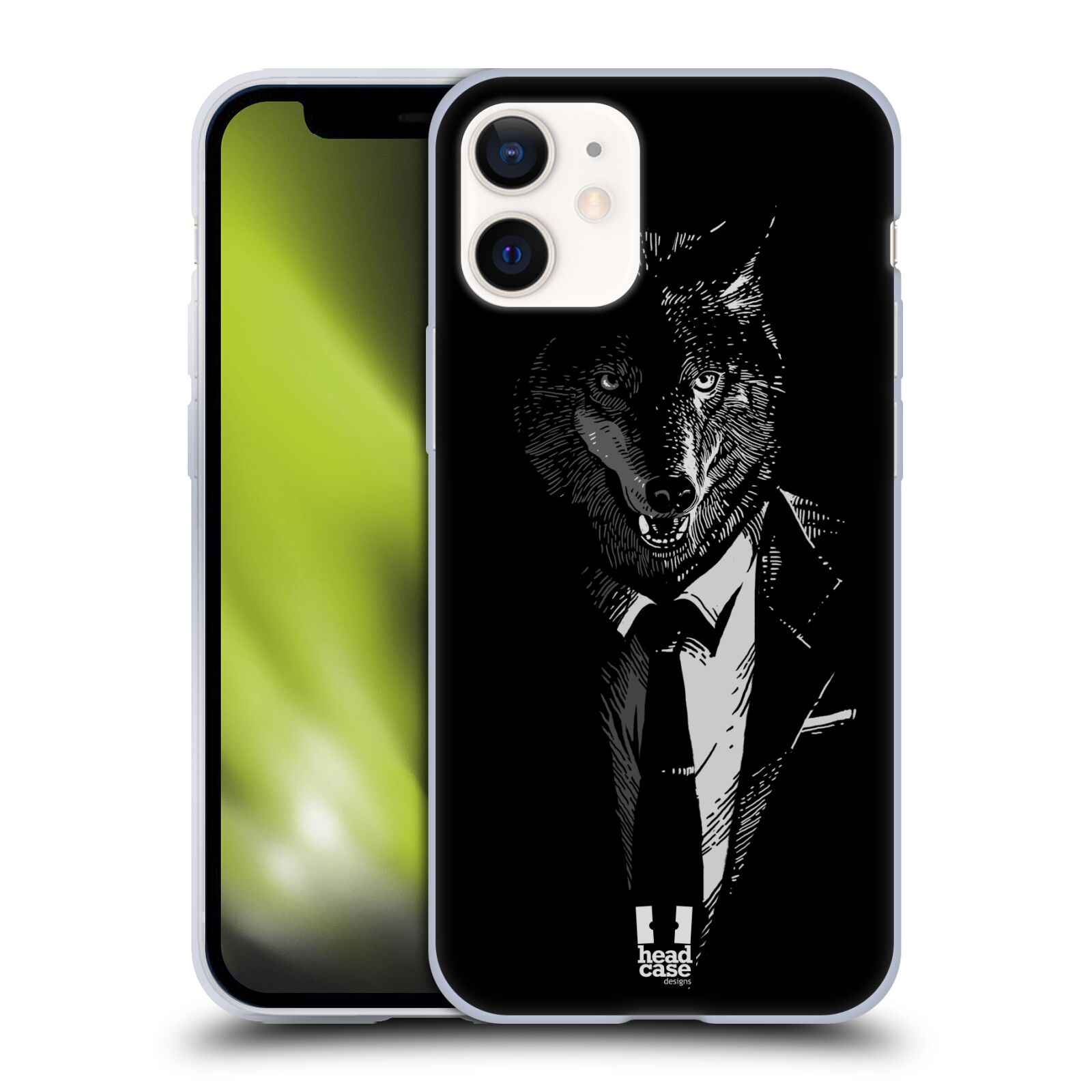 Plastový obal na mobil Apple Iphone 12 MINI vzor Zvíře v obleku vlk