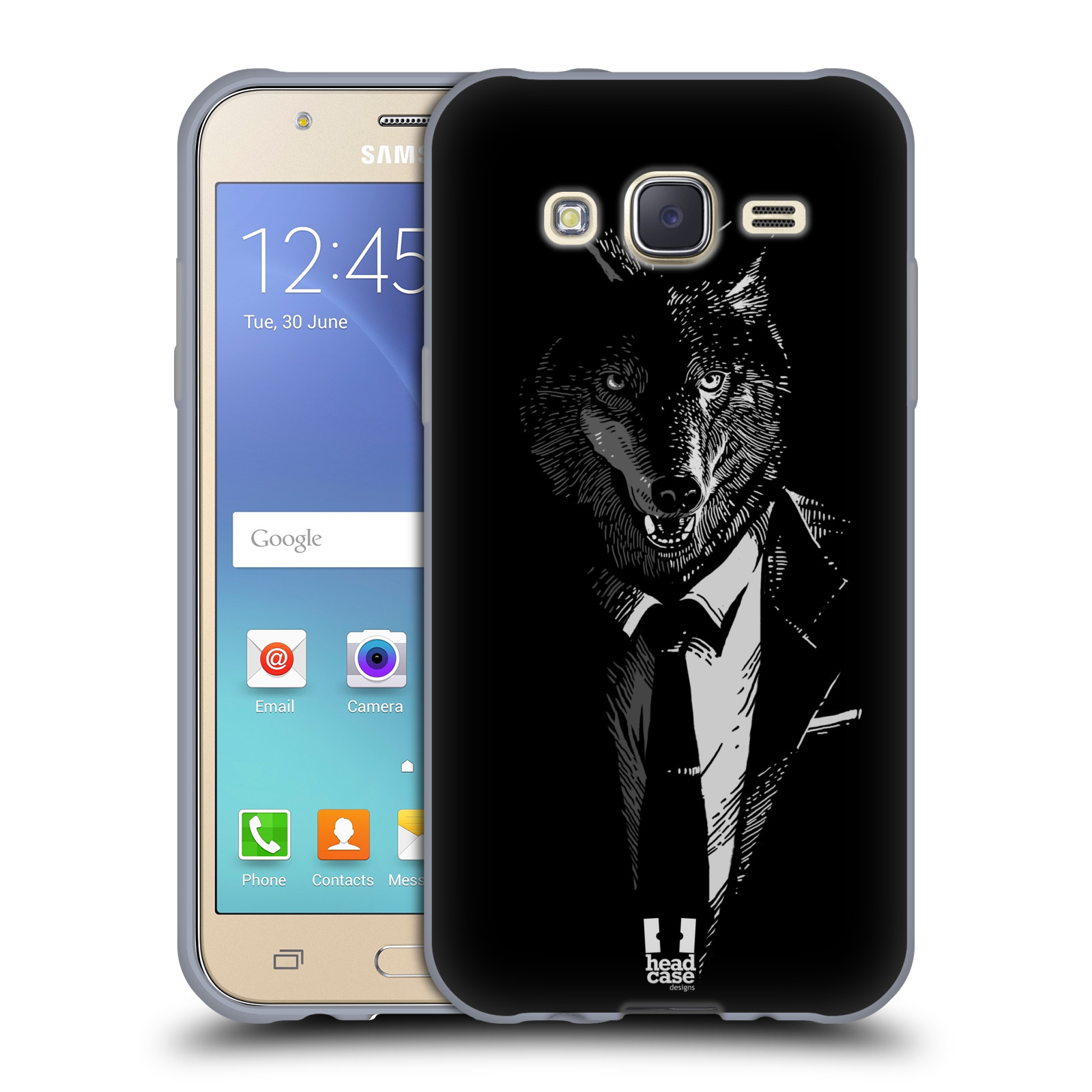 HEAD CASE silikonový obal na mobil Samsung Galaxy J5, J500, (J5 DUOS) vzor Zvíře v obleku vlk