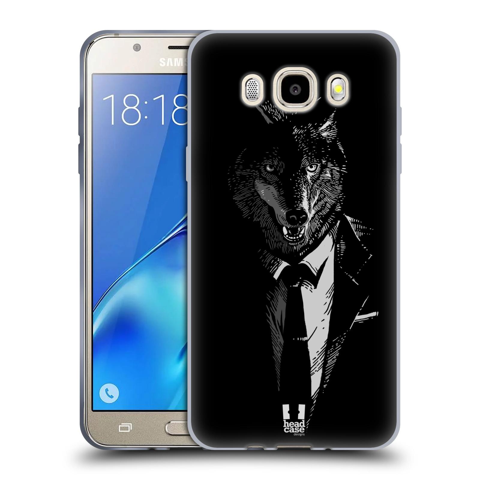 HEAD CASE silikonový obal, kryt na mobil Samsung Galaxy J5 2016, J510, J510F, (J510F DUAL SIM) vzor Zvíře v obleku vlk