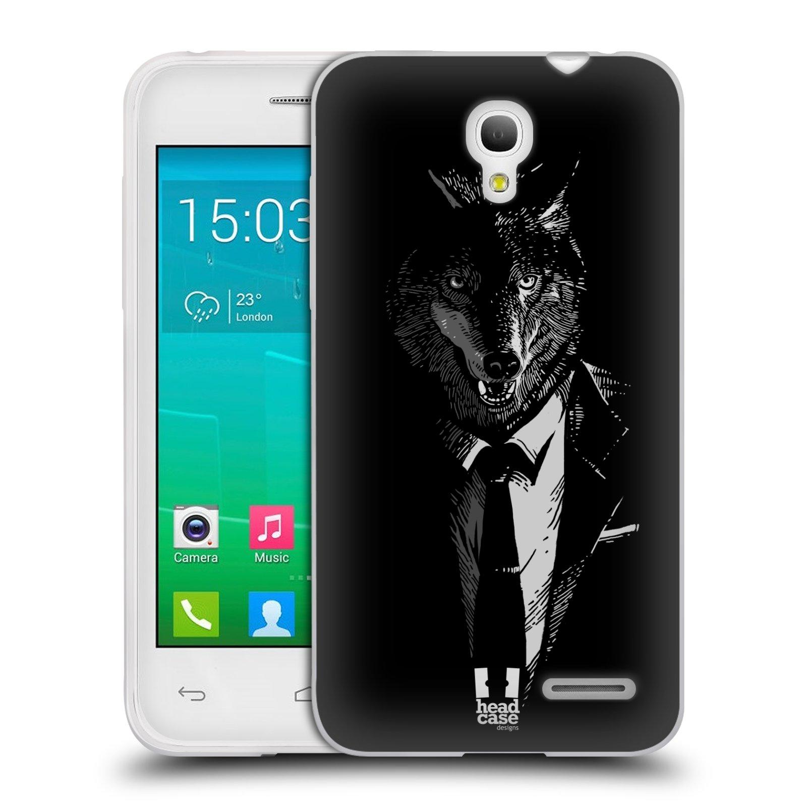 HEAD CASE silikonový obal na mobil Alcatel POP S3 OT-5050Y vzor Zvíře v obleku vlk