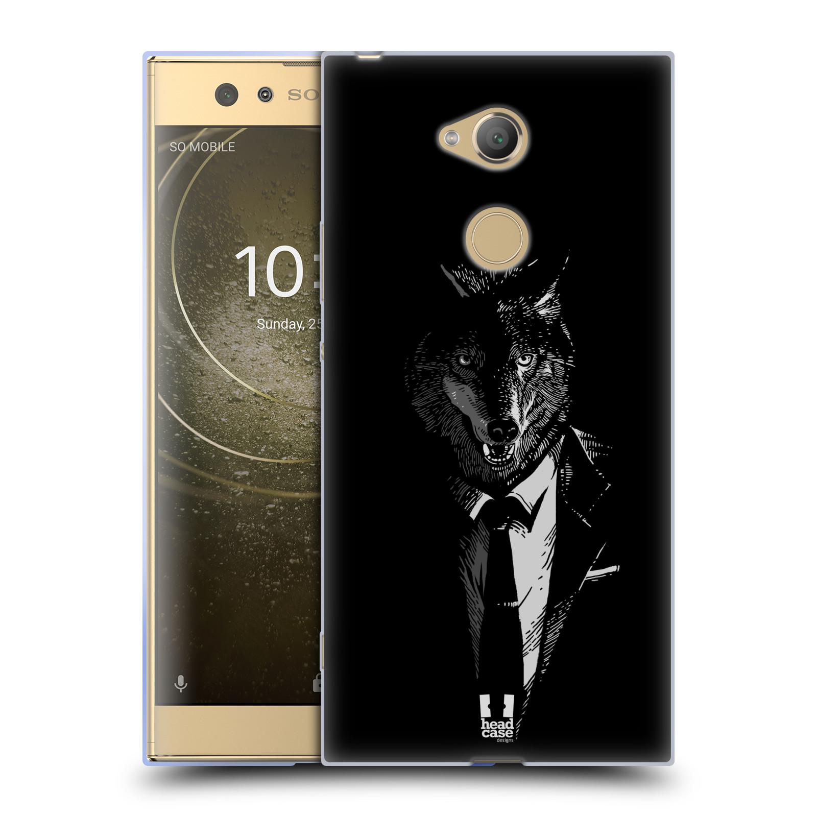 Pouzdro na mobil Sony Xperia XA2 Ultra vzor Zvíře v obleku vlk