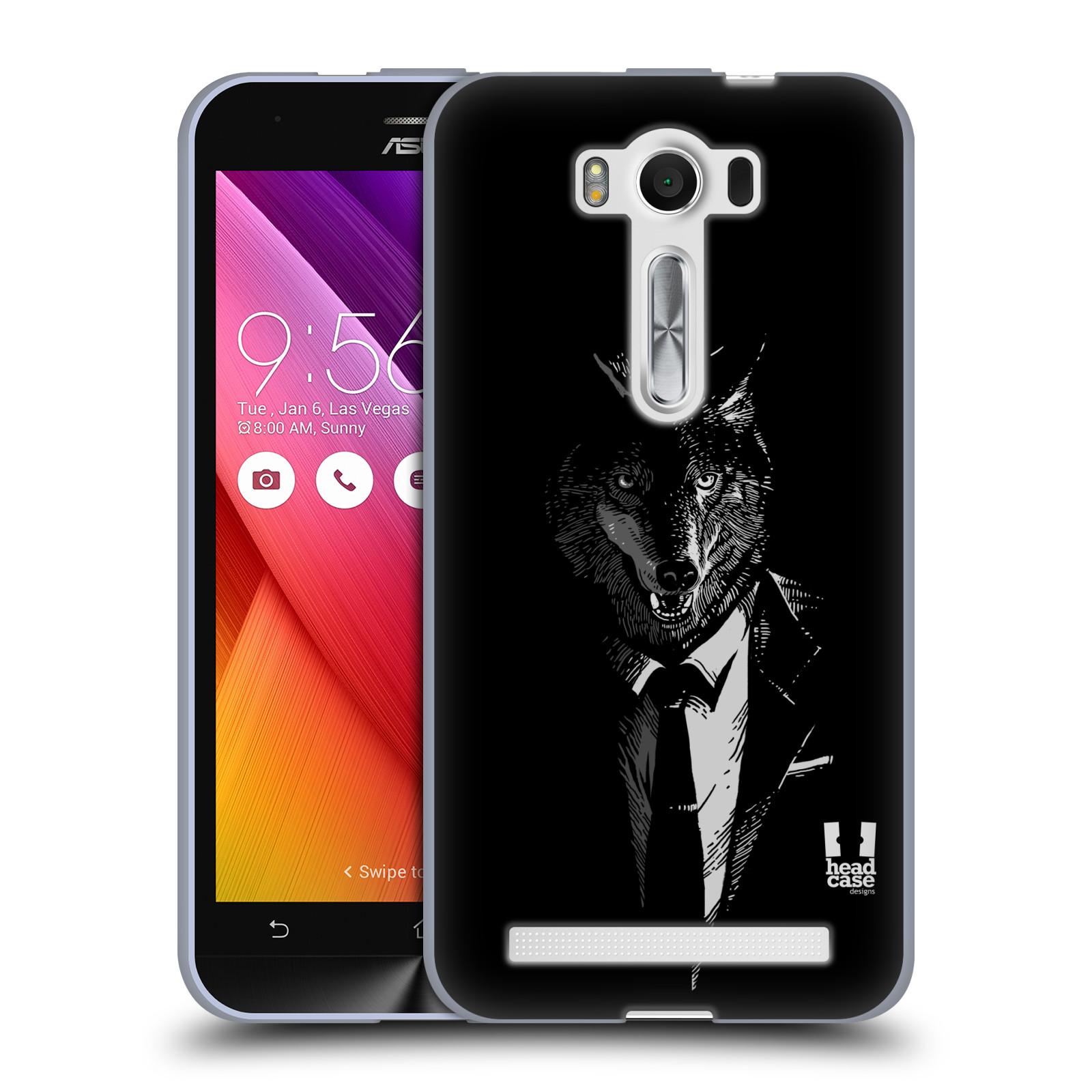 """HEAD CASE silikonový obal na mobil Asus Zenfone 2 LASER (ZE500KL s 5"""" displejem) vzor Zvíře v obleku vlk"""
