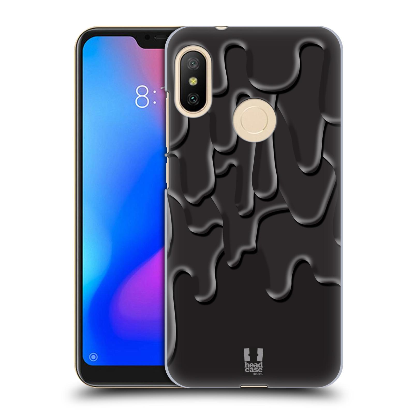 HEAD CASE plastový obal na mobil Xiaomi Mi A2 LITE vzor Barevná záplava ČERNÁ