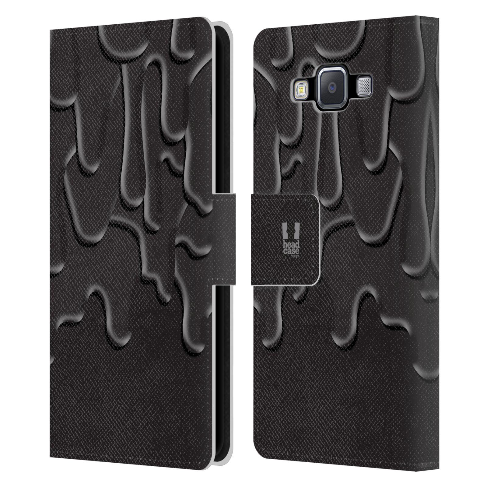 HEAD CASE Flipové pouzdro pro mobil Samsung Galaxy A5 ZÁPLAVA BARVA černá